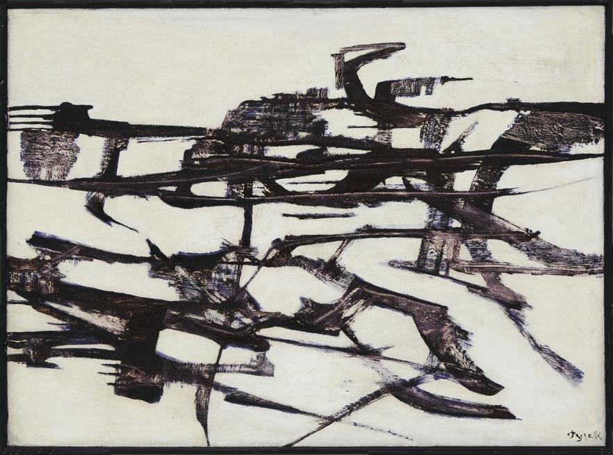 Teresa Tyszkiewiczowa, beztytułu, 1962, olej, płótno, 72 x 99 cm, Kolekcja Grzegorza Musiała