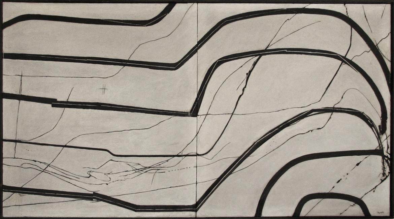 Teresa Tyszkiewiczowa, Ślepe drogi IV, 1970, olej, płótno, 100 x 180 cm, Kolekcja Galerii Ego