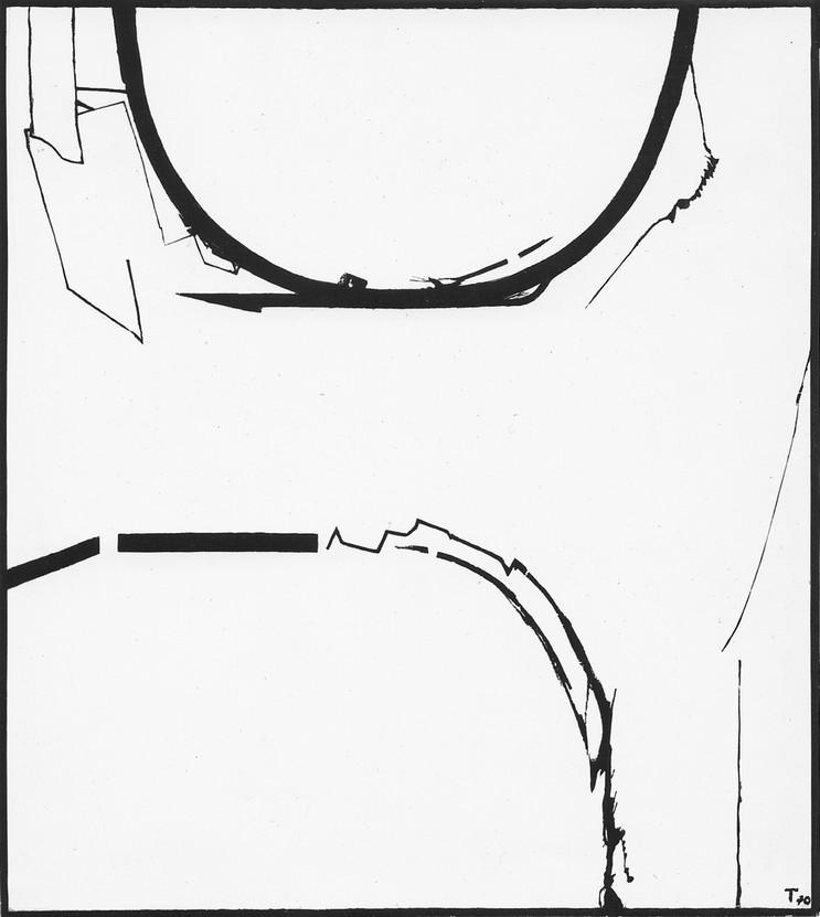 Teresa Tyszkiewiczowa, Ślepe drogi V, 1970, olej, płótno, 110 x 99,5 cm, własność prywatna