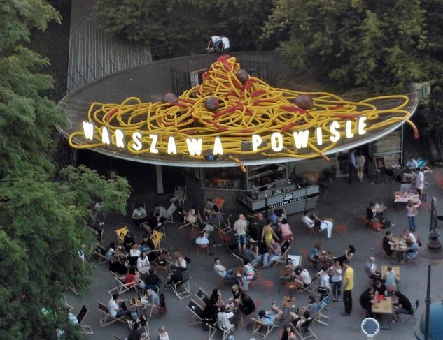 pastafarian art nadachu PKP Powiśle