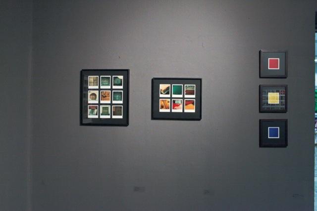 Od lewej: Wacław Nowak, Beztytułu 1975; Wacław Nowak, Beztytułu, 1975; Krzysztof Ćwiertniewski, Kompozycje kolorystyczne, 2010