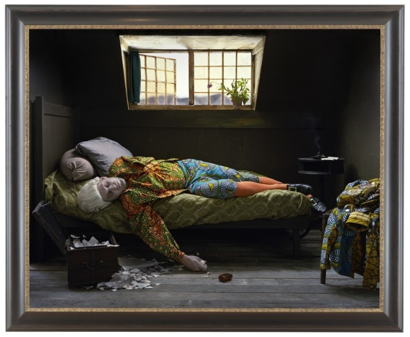 Fake Death Picture (The Death of Chatterton - Henry Wallis), 2011_Yinka Shonibare  Courtesy James Cohan Gallery, New York, Shanghai_preview