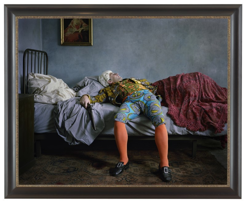 Fake Death Picture (The Suicide - Manet),  2011, Yinka Shonibare  Courtesy James Cohan Gallery, New York, Shanghai