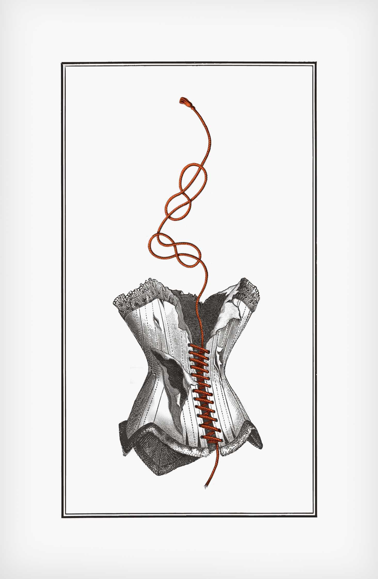"""""""Przedmiot uszkodzony"""", ilustracja zksiążki """"Corpus Delicti"""" Jakuba Mikurdy iJakuba Woynarowskiego, grafika: Jakub Woynarowski"""