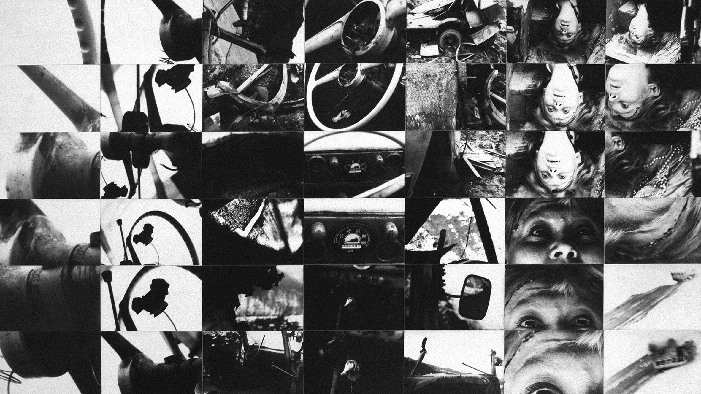 Ryszard Wasko, The Accident (apolice record), 1971, gelatin silver print, 64 x 97 cm © the artist courtesy Zak | Branicka