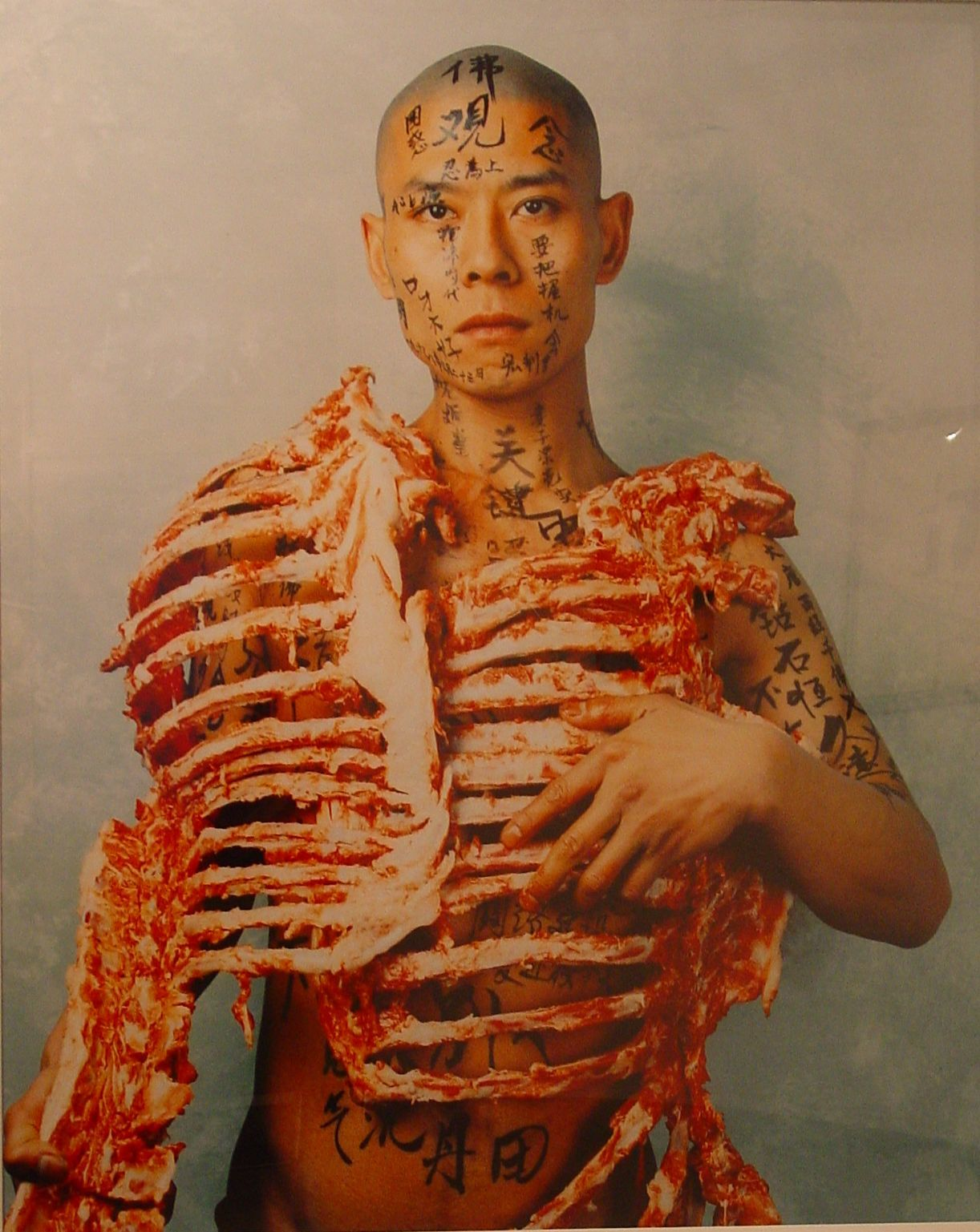 Zhang Huan, Meat and text, 1998