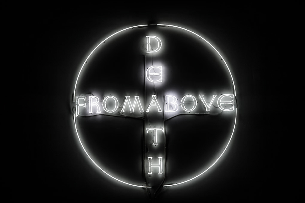 Hubert Czerepok, 2. Death from Above, 2009,  neon, 190 x 190 cm