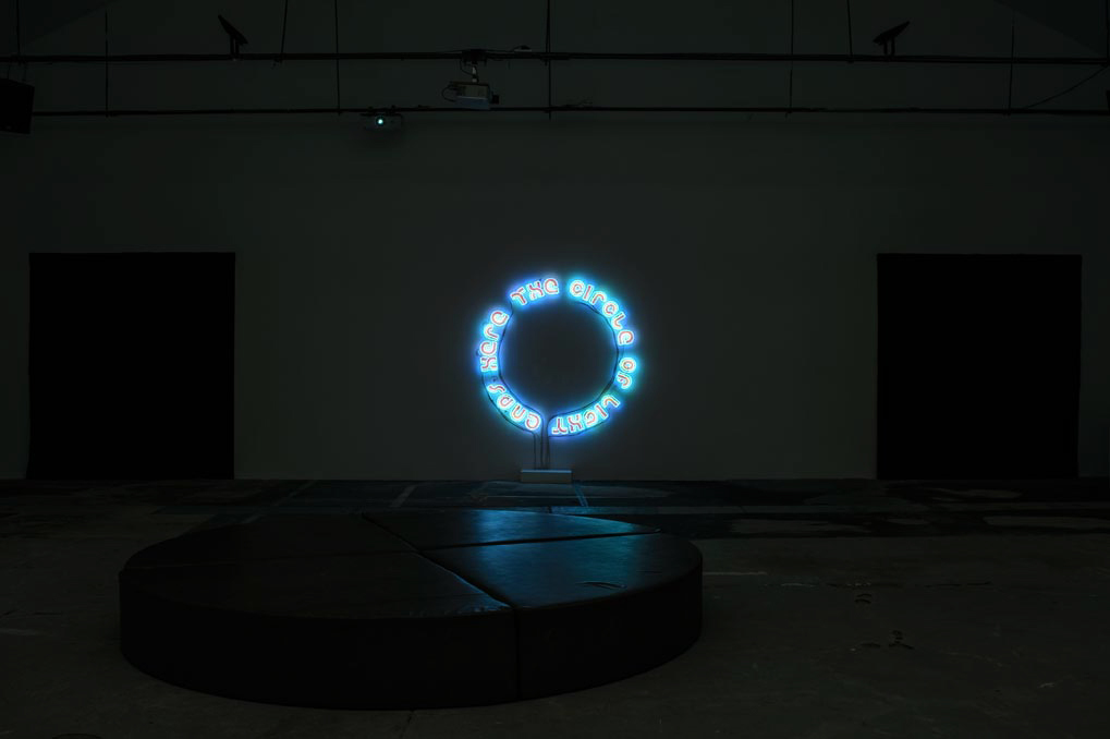 Hubert Czerepok, The Circle of Light Ends Here, 2013, neon, 200 x 200 cm