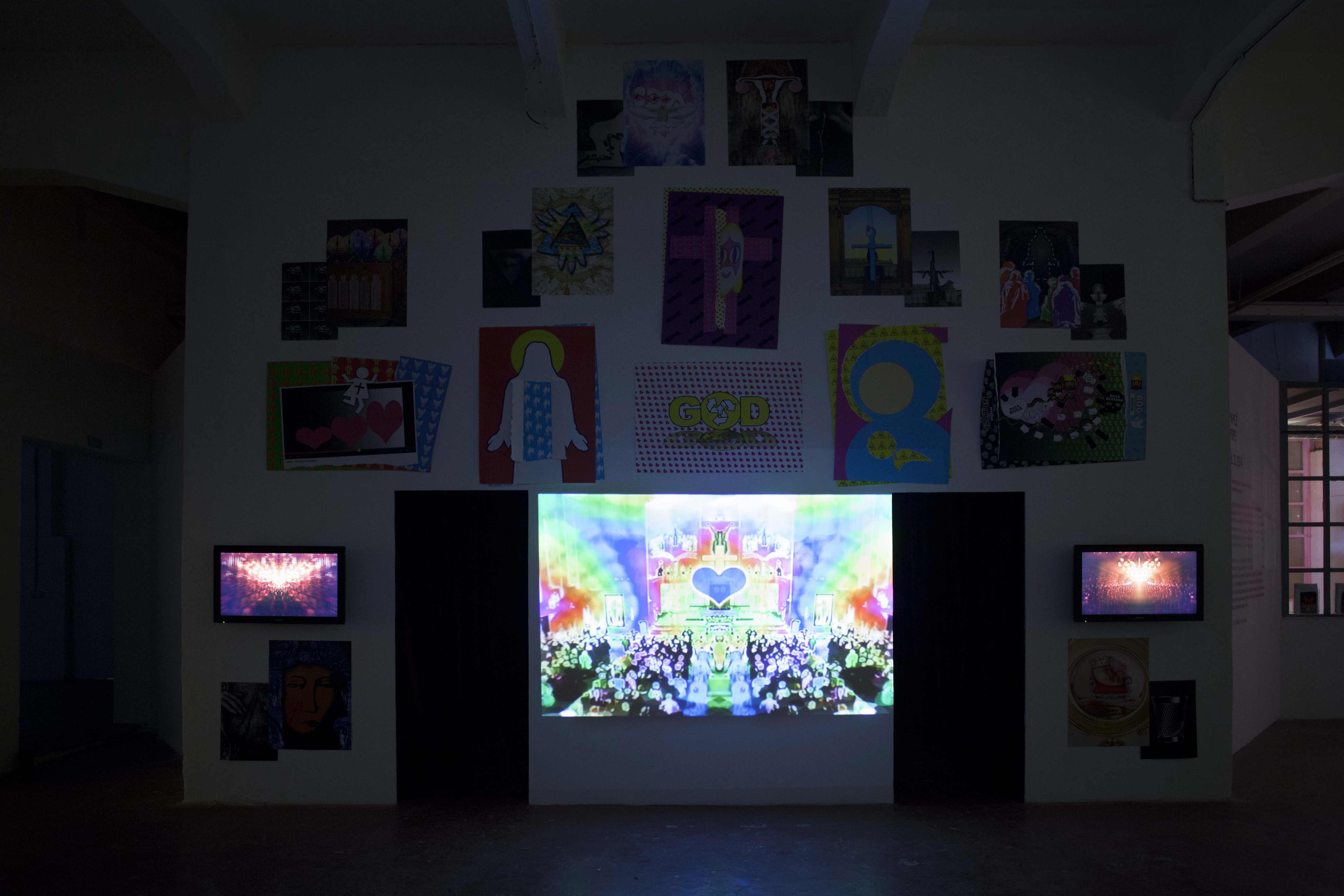 A. Karczmarczyk, Ikonostas, instalacja, 2014