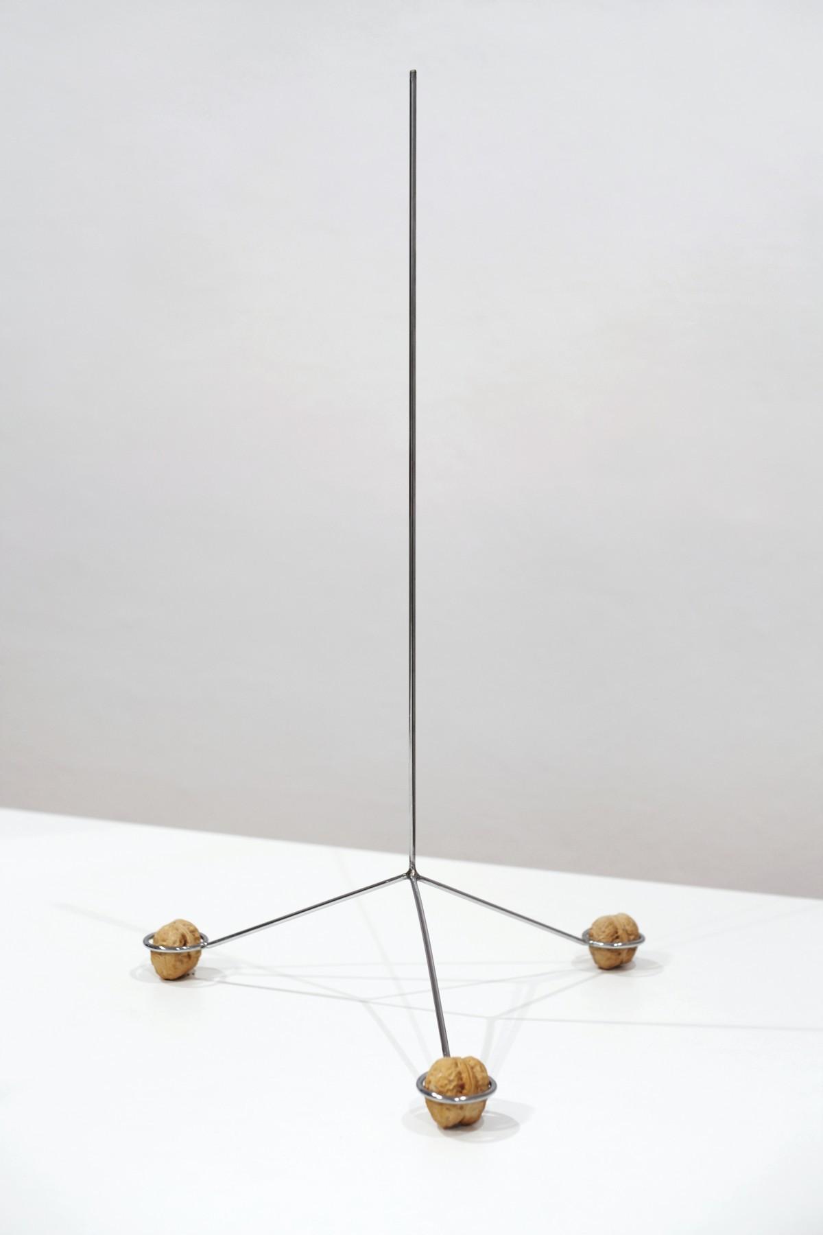 Krystian Truth Czaplicki, Antena, 2013, Stal chromowana, orzechy włoskie