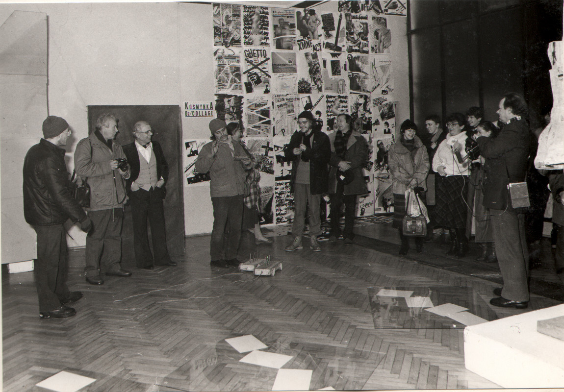 otwarcie IBiennale Sztuki Nowej, 1985 fot.Leszek Krutulski