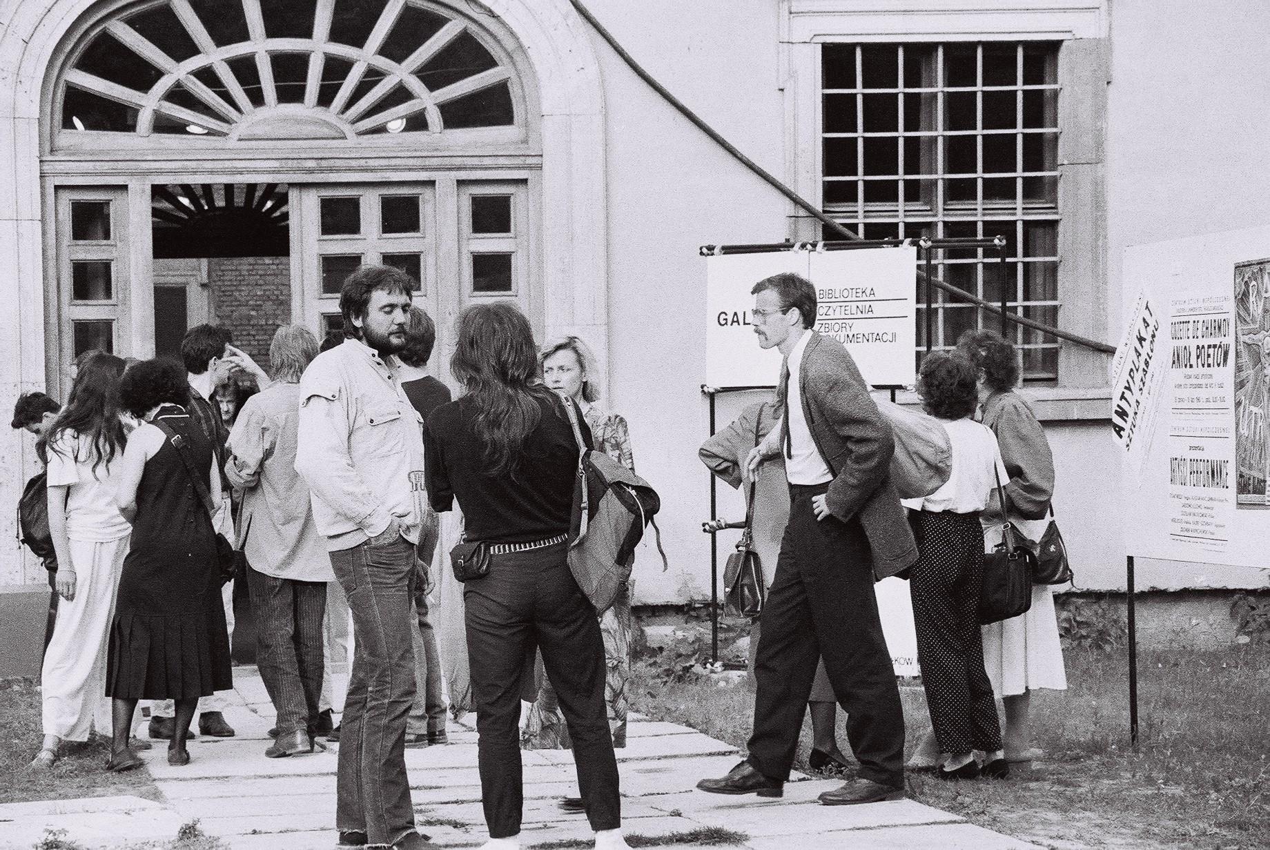 """Dokumentacja wernisażu wystawy """"Raj utracony"""" (kurator R. Ziarkiewicz), fot.J. Michalski"""