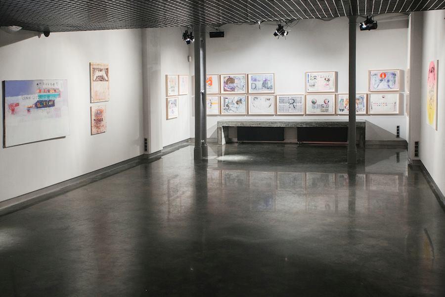Radek Szlaga, widok zekspozycji Milenium, 2014, zdjęcia Studio Filmlove, dzięki uprzejmości Czytelni Sztuki