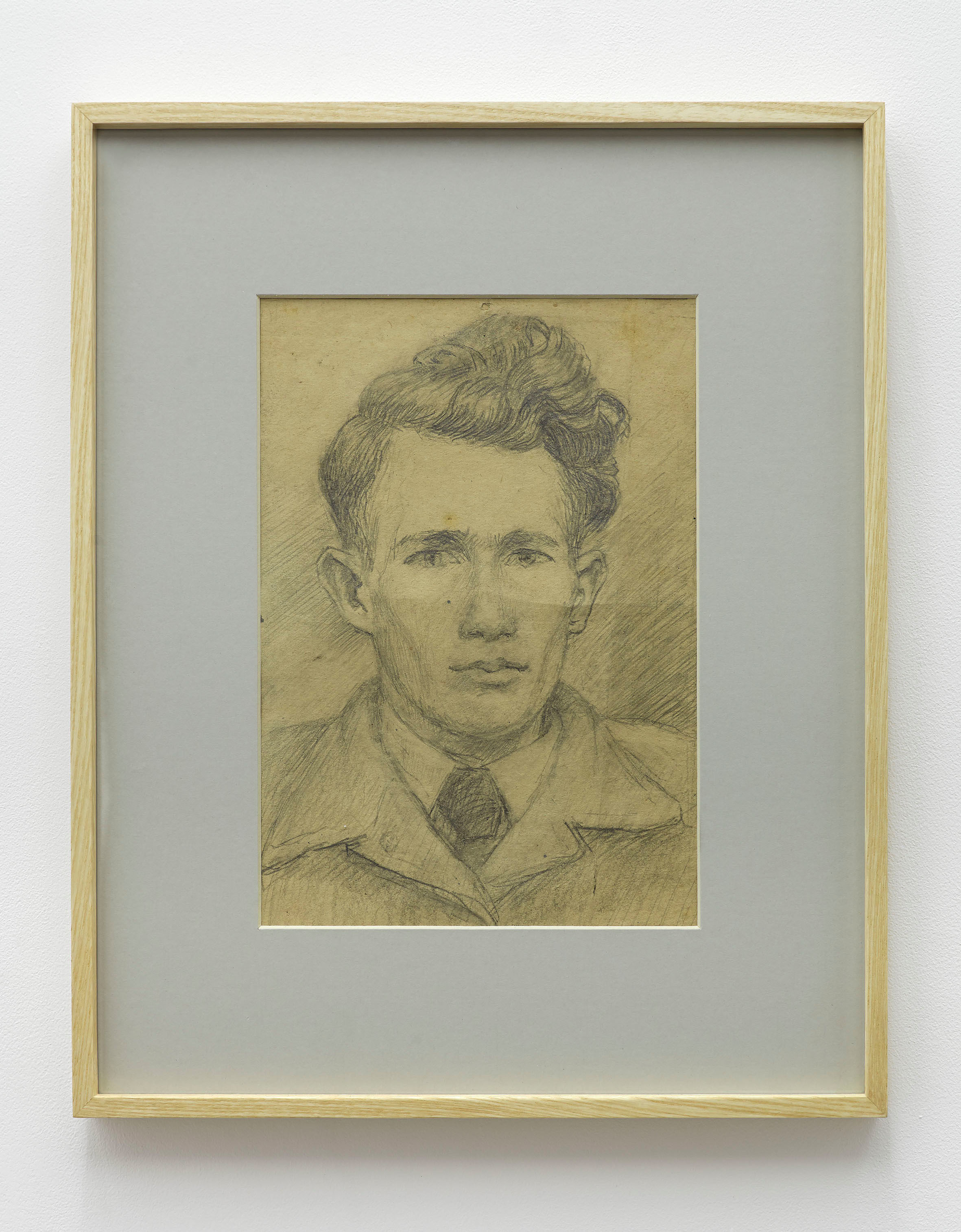 Marian Szpakowski, autoportret, lata 50., ołówek napapierze