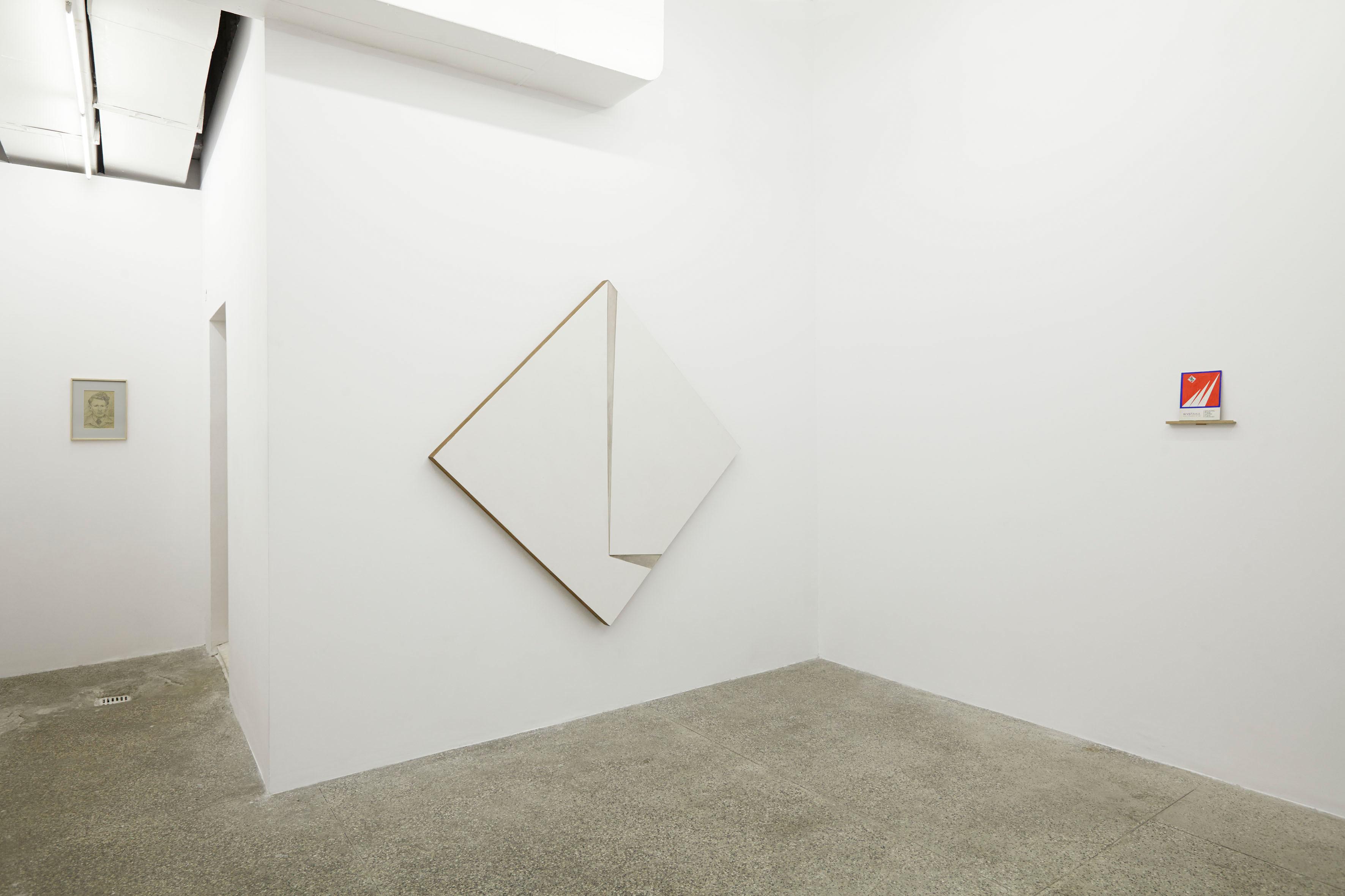 """widok nawystawę """"Marian Szpakowski. Wczoraj, dziś, jutro"""", galeria Dawid Radziszewski, 2014"""