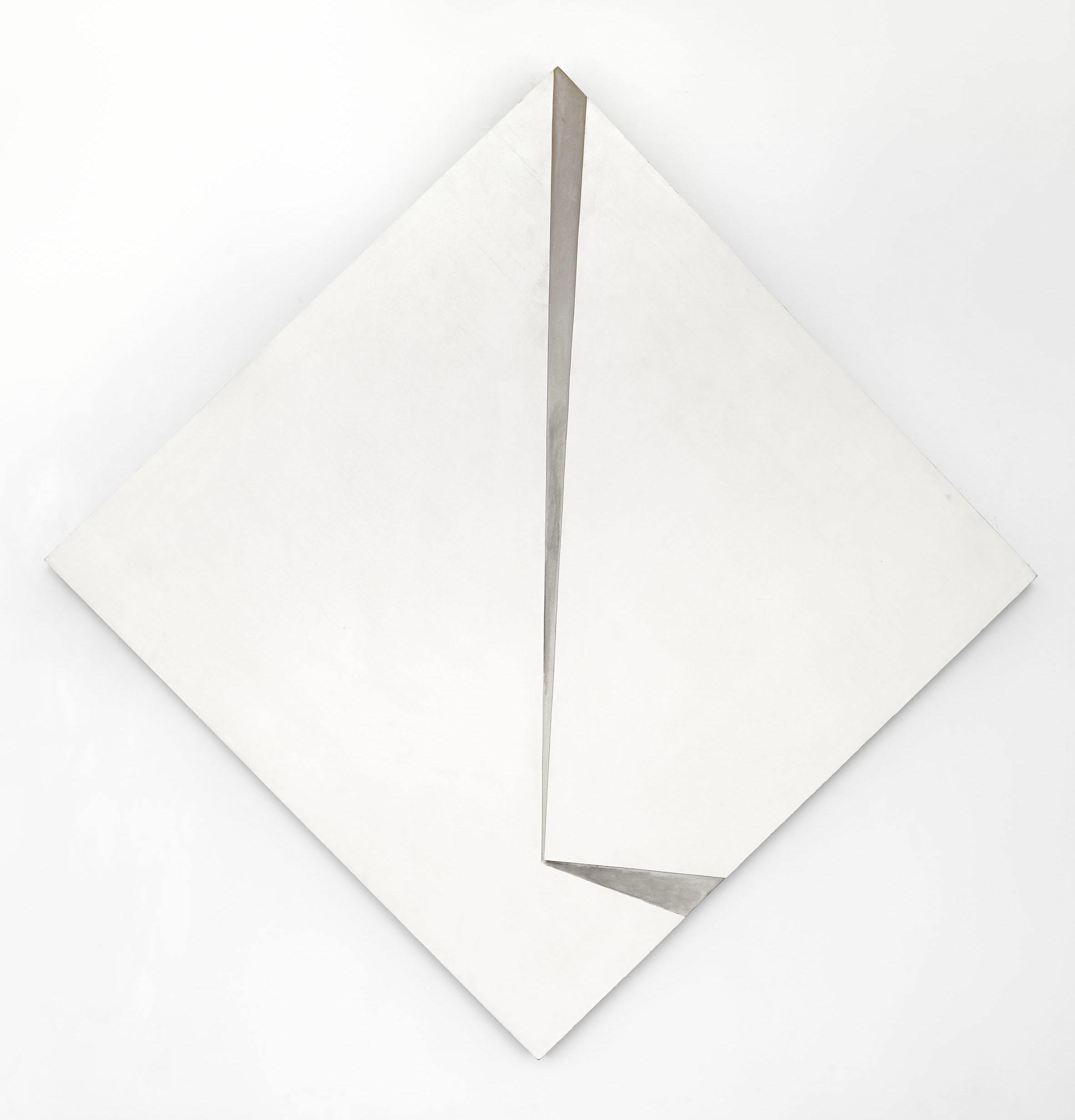 Marian Szpakowski, Relief Biały, 1971, akryl napłycie, drewno