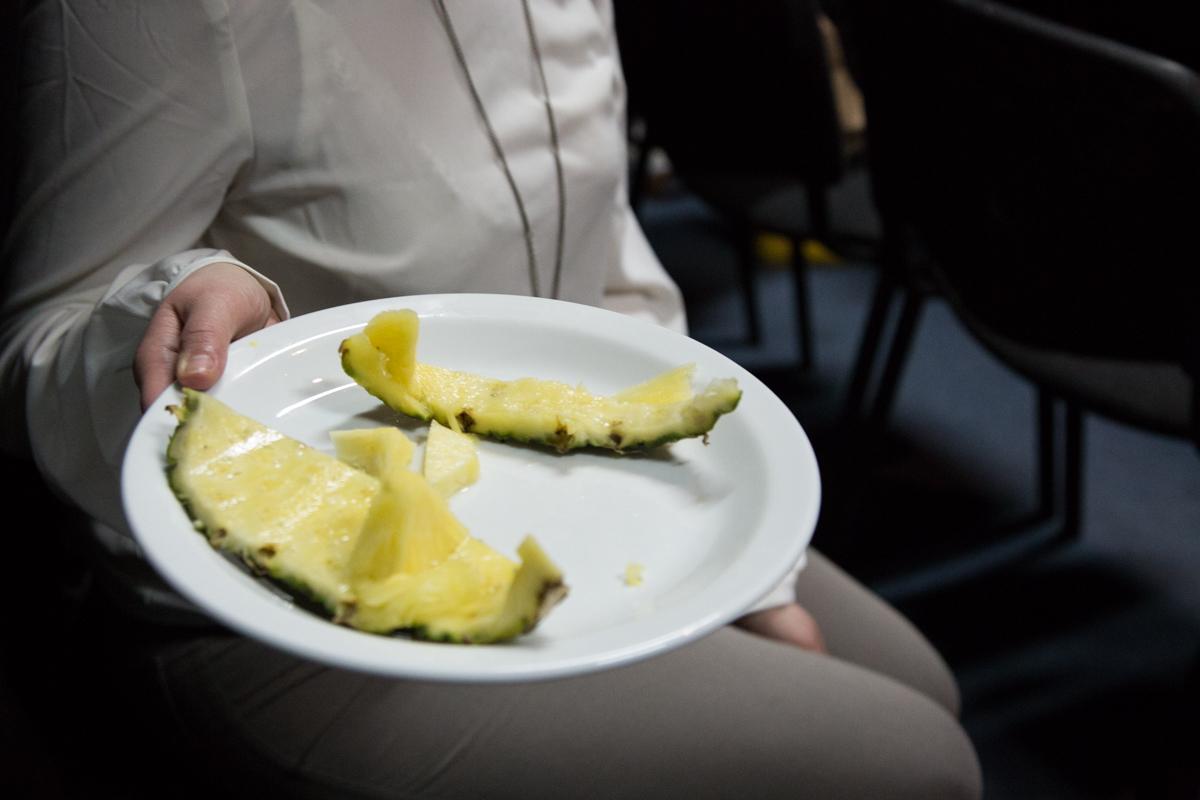 Ananas przyniesiony przezartystkę, CSW Łaźnia, 15.04.2014, fot.Wojtek Skrzypczyn