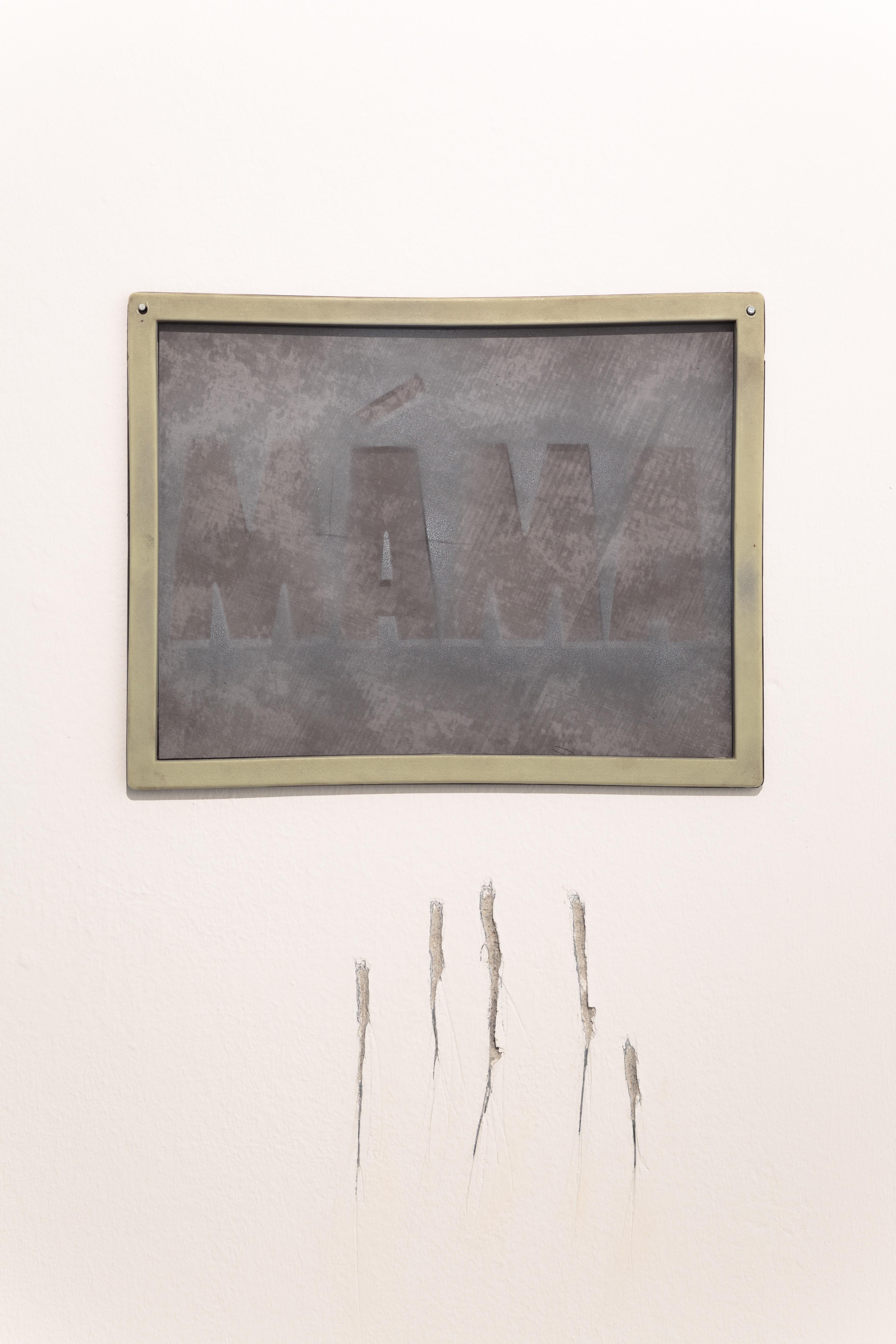 """Jiri David, """"Mama"""", 1995, szkło, metal, dzięki uprzejmości Le Guern iartysty"""