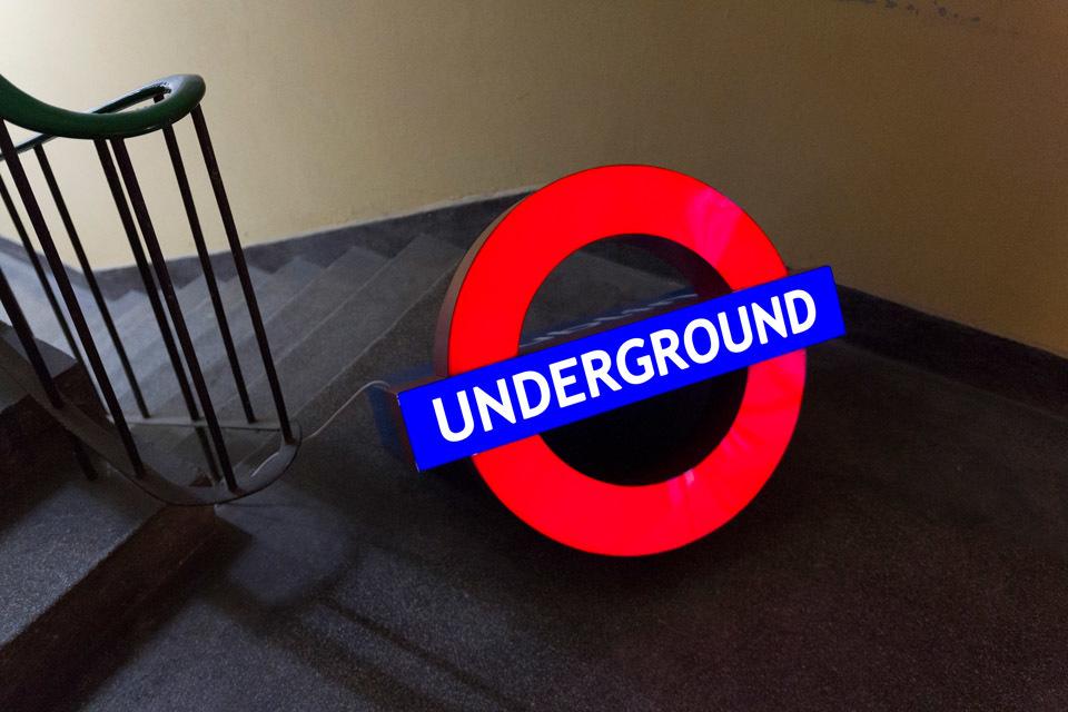 """Daniel Malone, """"Underground"""", dzięki uprzejmości galerii Arsenał wBiałymstoku"""