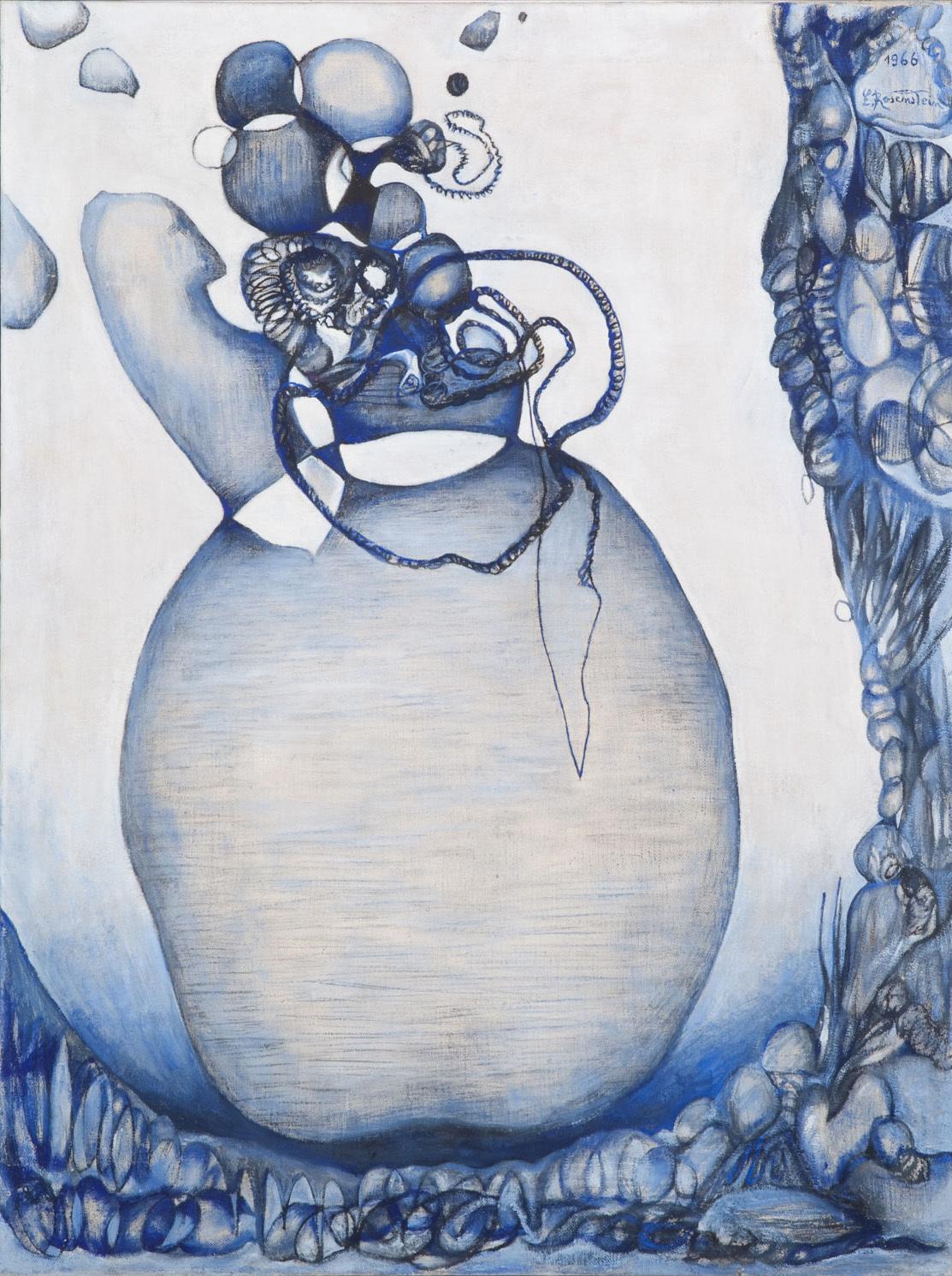 2. Erna Rosenstein, Pęcznieje, 1966, olej, płótno, kolekcja Muzeum Sztuki wŁodzi, fot.Bartek Buśko