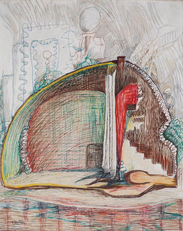 Erna Rosenstein, Gdzieś daleko altana, 1977, olej, płótno, kolekcja Zachęty Narodowej Galerii Sztuki, fot.Bartek Buśko