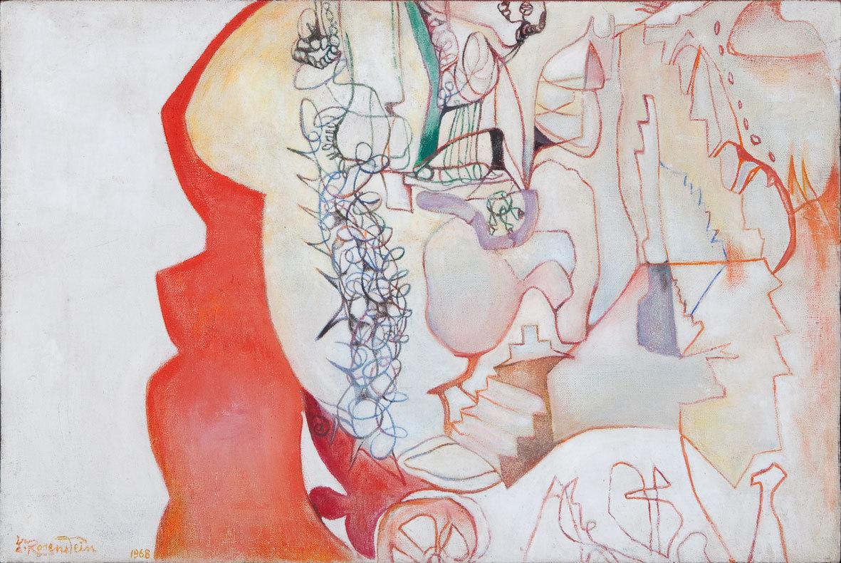 Erna Rosenstein, Organizm, 1968, olej, płótno, kolekcja prywatna, Warszawa, fot.Bartek Buśko