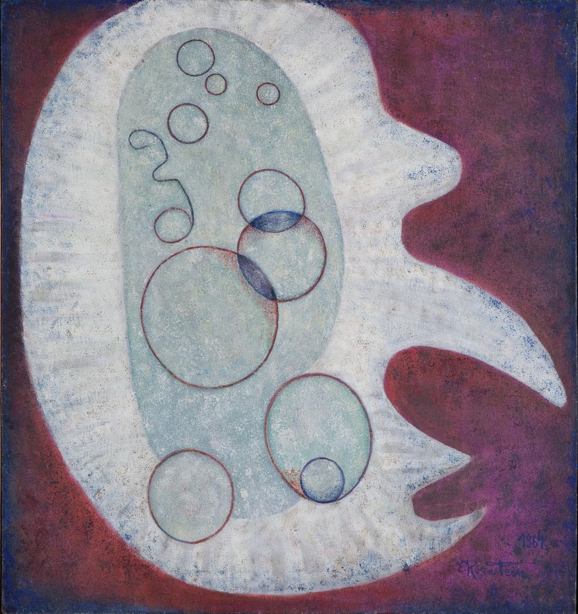 Erna Rosenstein, Serce ikony, 1964, olej, płótno, kolekcja Muzeum Narodowego wPoznaniu, fot.Bartek Buśko