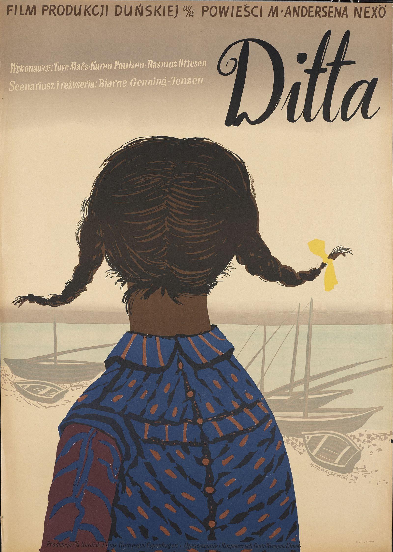 """Henryk Tomaszewski, """"Ditta"""", plakat filmowy, 1952, dzięki uprzejmości Filipa Pągowskiego"""