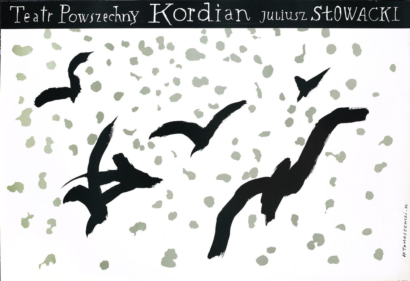"""Henryk Tomaszewski, """"Kordian"""", plakat teatralny 1980, dzięki uprzejmości Filipa Pągowskiego"""