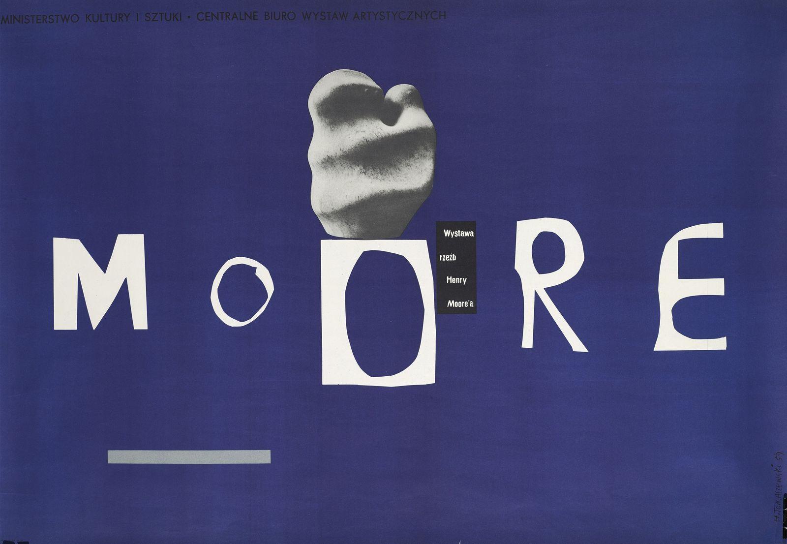 """Henryk Tomaszewski, """"Moore. Wystawa rzeźb Henry Moore'a"""", 1959, dzięki uprzejmości Filipa Pągowskiego"""