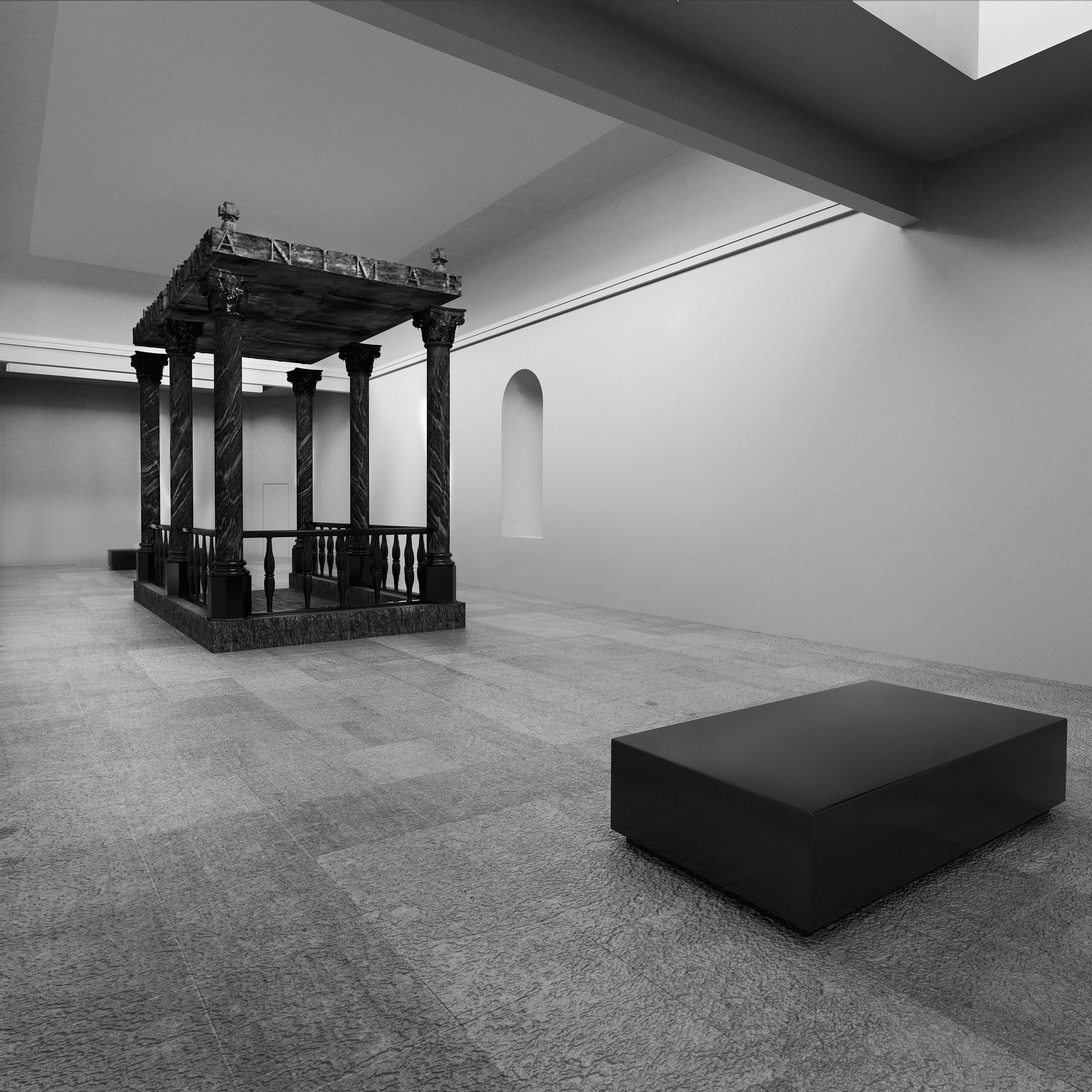 """""""Figury niemożliwe"""", wizualizacja wystawy wPawilonie Polskim wWenecji, 14. Międzynarodowa Wystawa Architektury, 2014"""