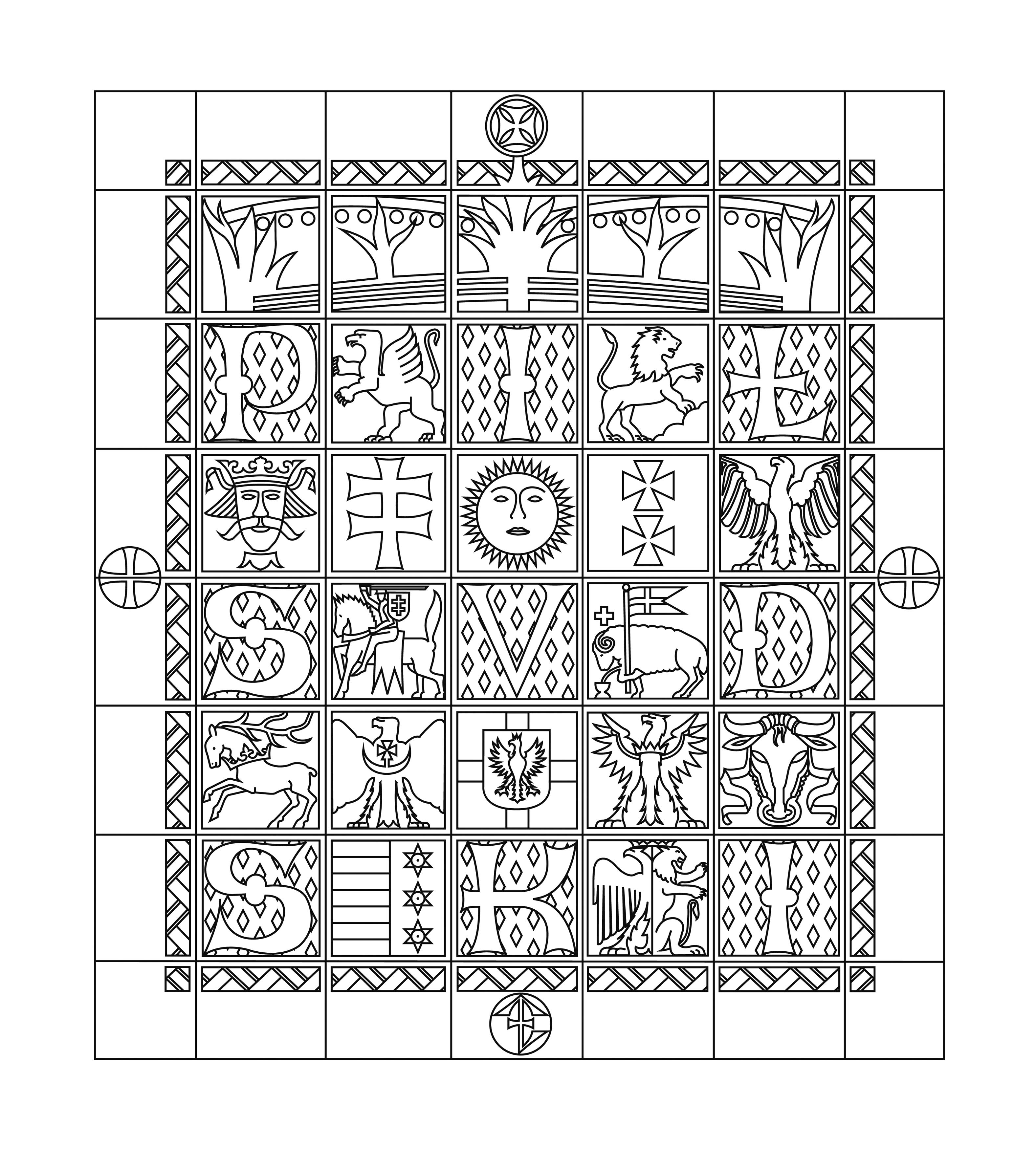 """Jakub Woynarowski, diagram napodstawie rysunku Adolfa Szyszko-Bohusza (1937), fragment projektu """"Figury niemożliwe"""", 14. Międzynarodowa Wystawa Architektury wWenecji, 2014"""