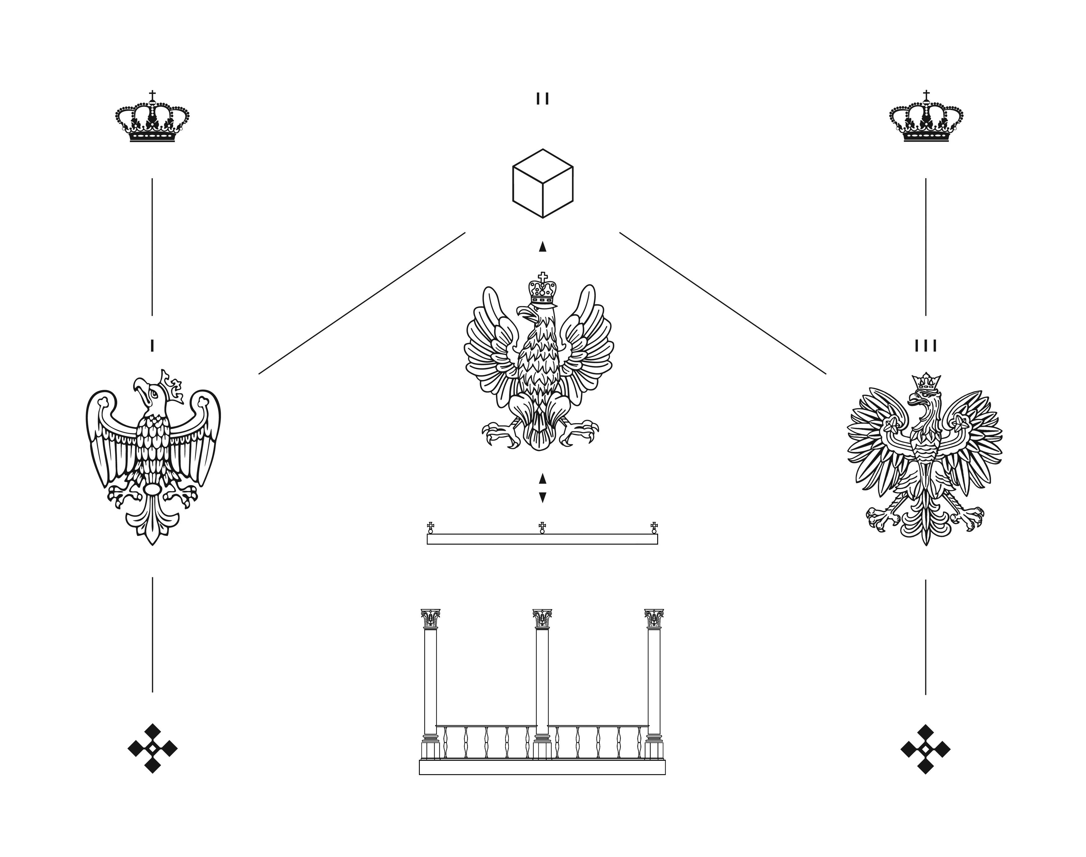 """Jakub Woynarowski, """"Sanatio"""", diagram, fragment projektu """"Figury niemożliwe"""", 14. Międzynarodowa Wystawa Architektury wWenecji, 2014"""