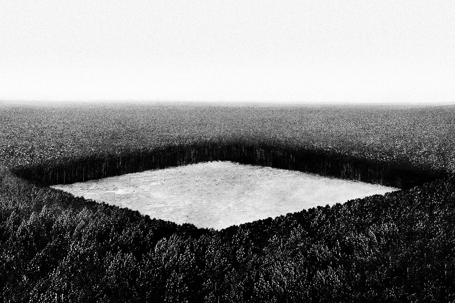 """Jakub Woynarowski, """"Stalowa Wola (I)"""", fotomontaż zcyklu """"Wpowietrzu, nalądzie imorzu"""", 2008"""