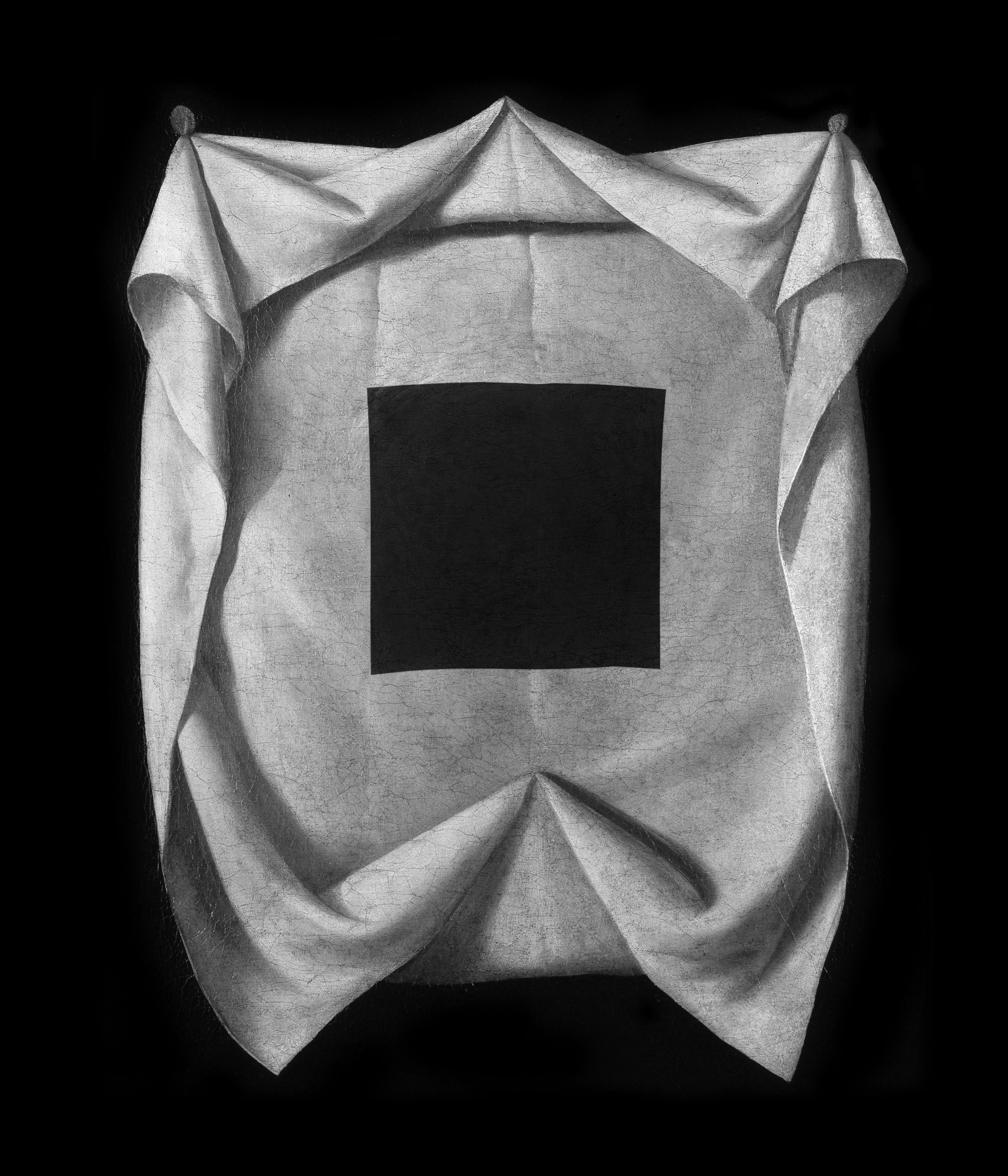 """Jakub Woynarowski, """"Veraicon (I)"""", fotomontaż / grafika cyfrowa, napodstawie obrazu Francisco de Zurbarana (ok. 1635), 2014"""