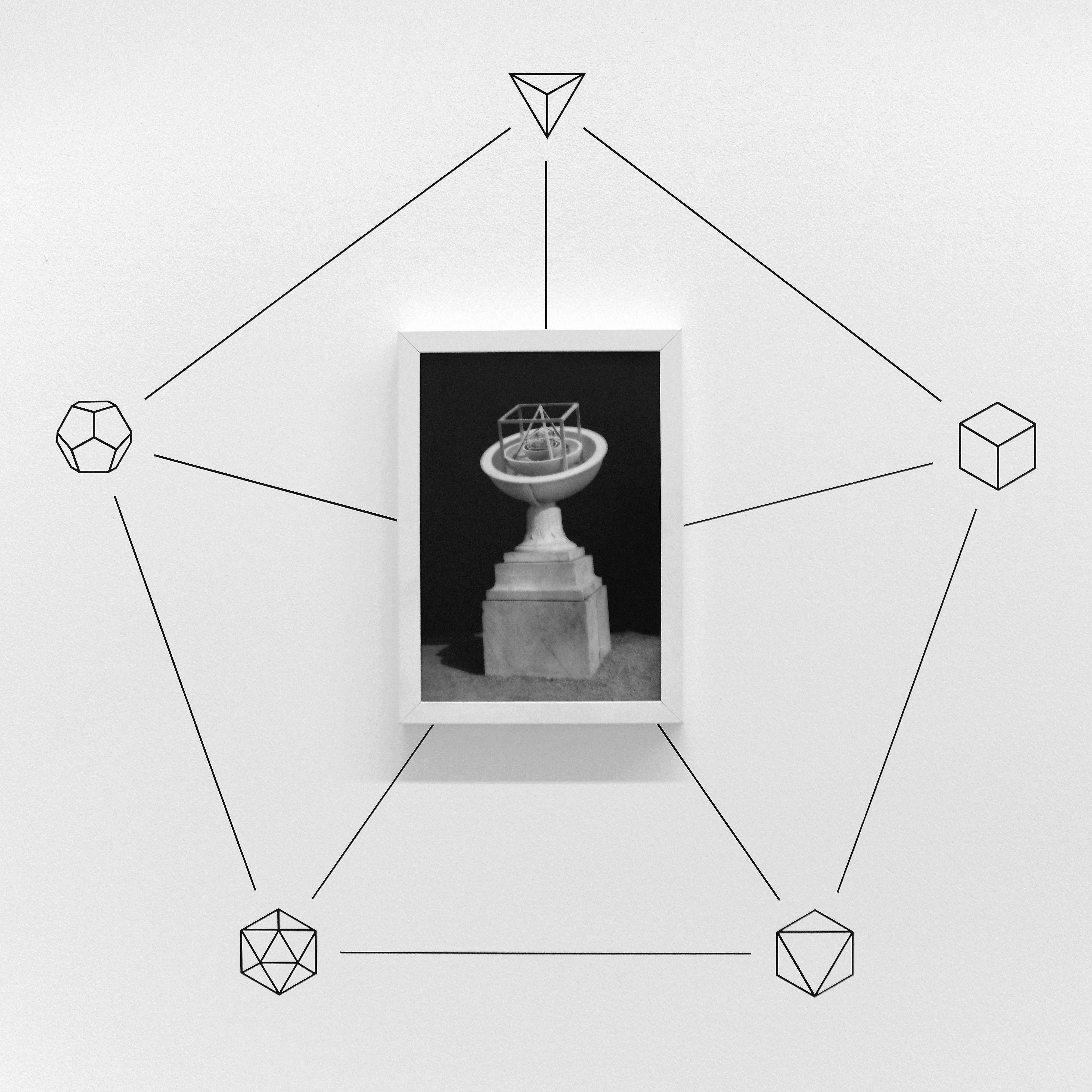"""Jakub Woynarowski, """"Geometria Sacra: Johannes Kepler"""", fotomontaż / rysunek, 2013"""