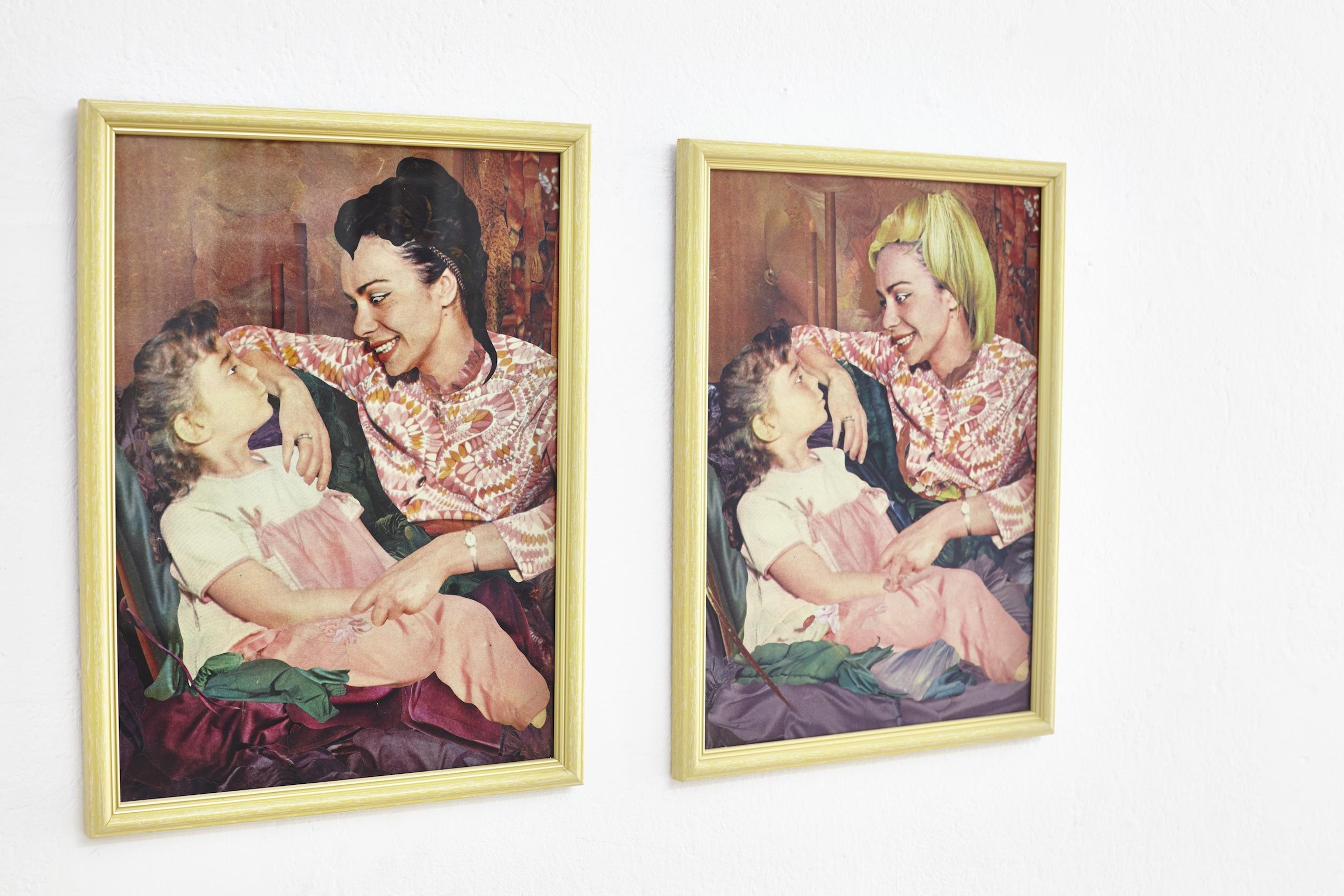 Konrad Maciejewicz, My Evil Mother_My Good Mother, 2013, kolaże napapierze