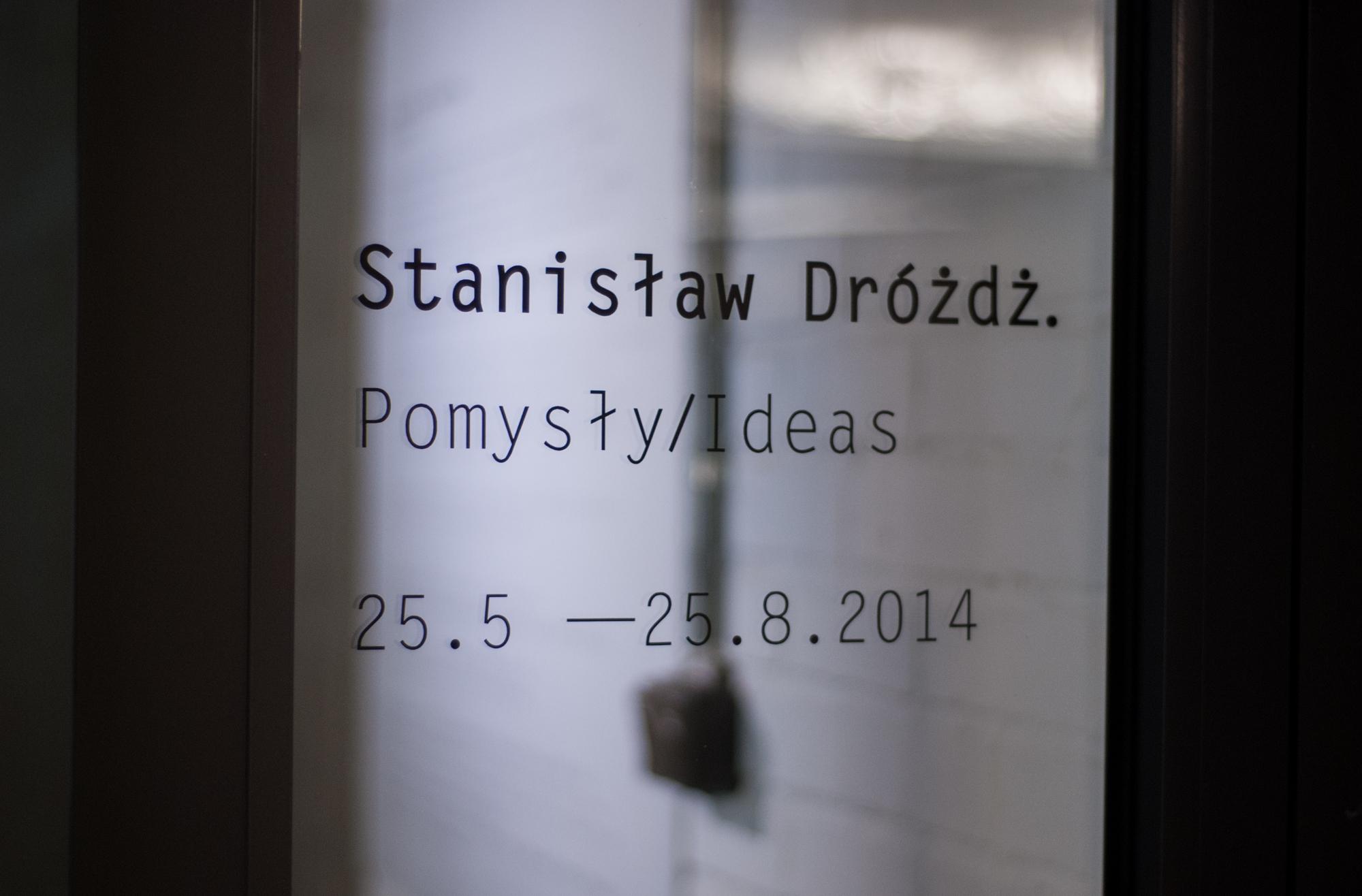 """Stanisław Drożdż, """"Pomysły"""", widok nawystawę"""