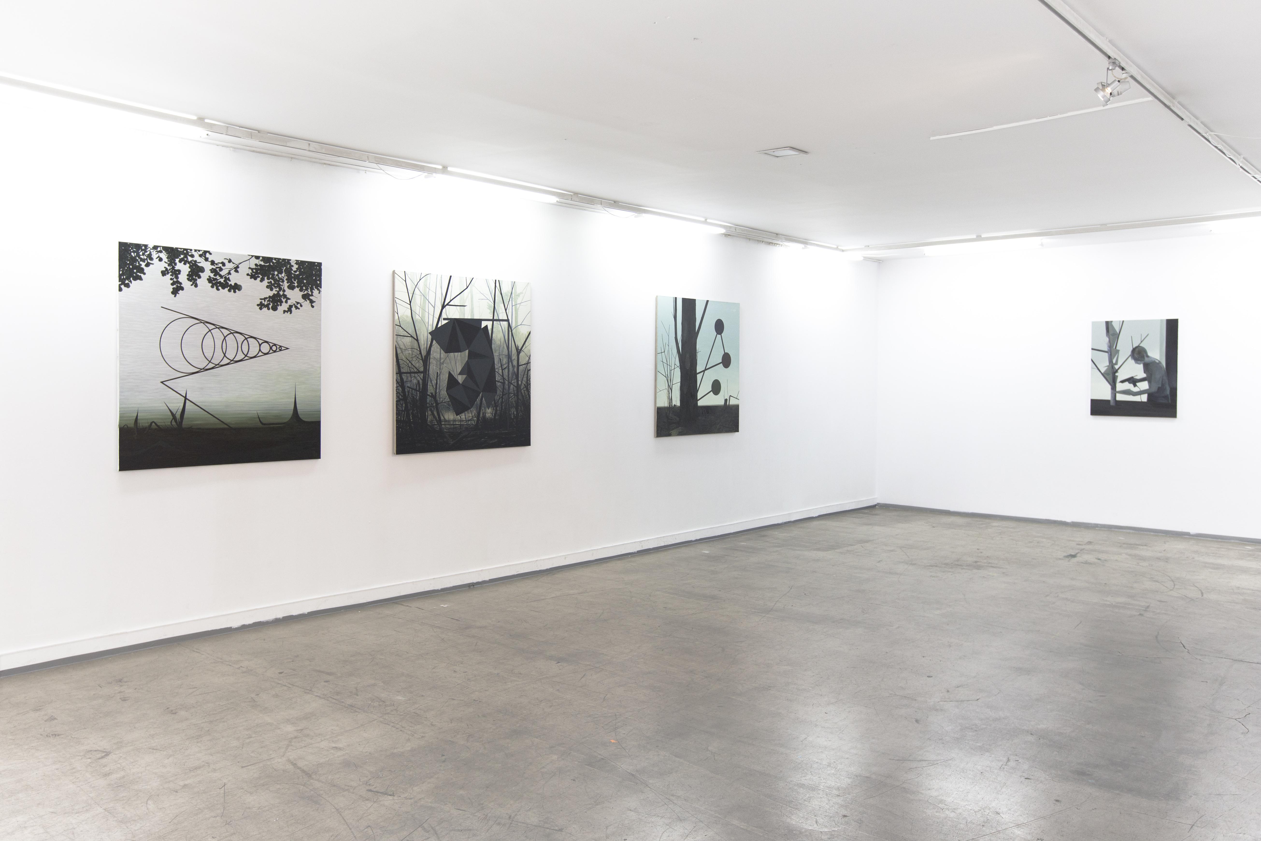"""Andrzej Tobis, """"Dowody rzeczowe"""", widok wystawy, CSW Kronika 2014"""