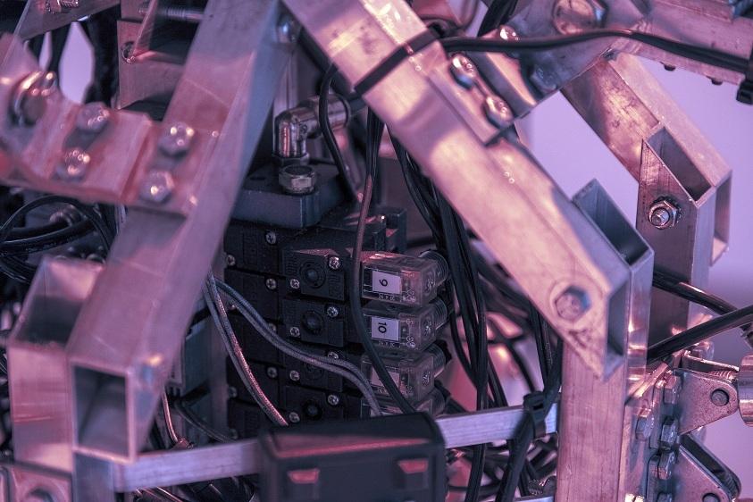 Bill Vorn, Histeryczne maszyny, widok nawystawę