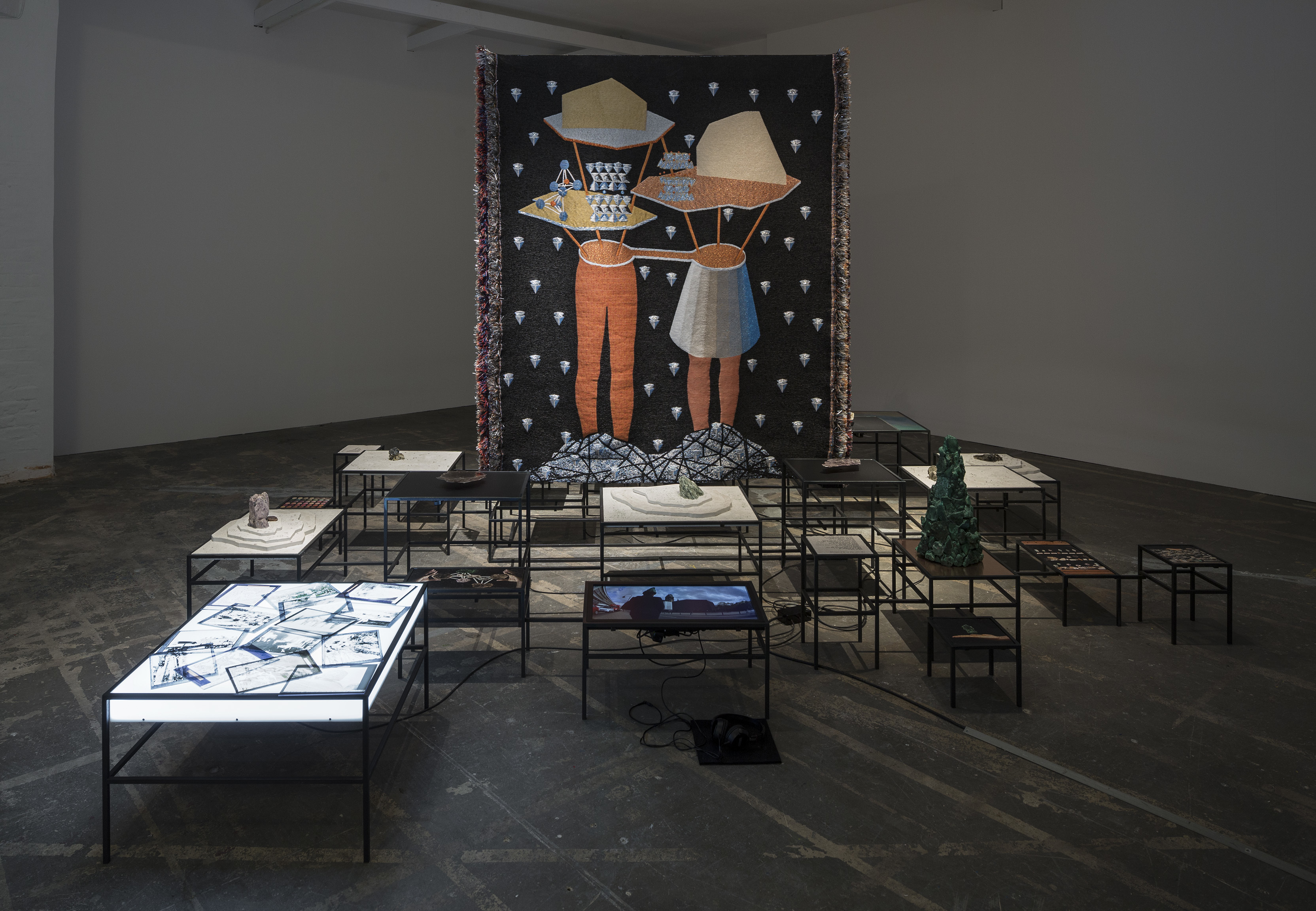 Otobong Nkanga, In Pursuit of Bling, 2014, installation view Courtesy Otobong Nkanga, fot. Anders Sune Berg