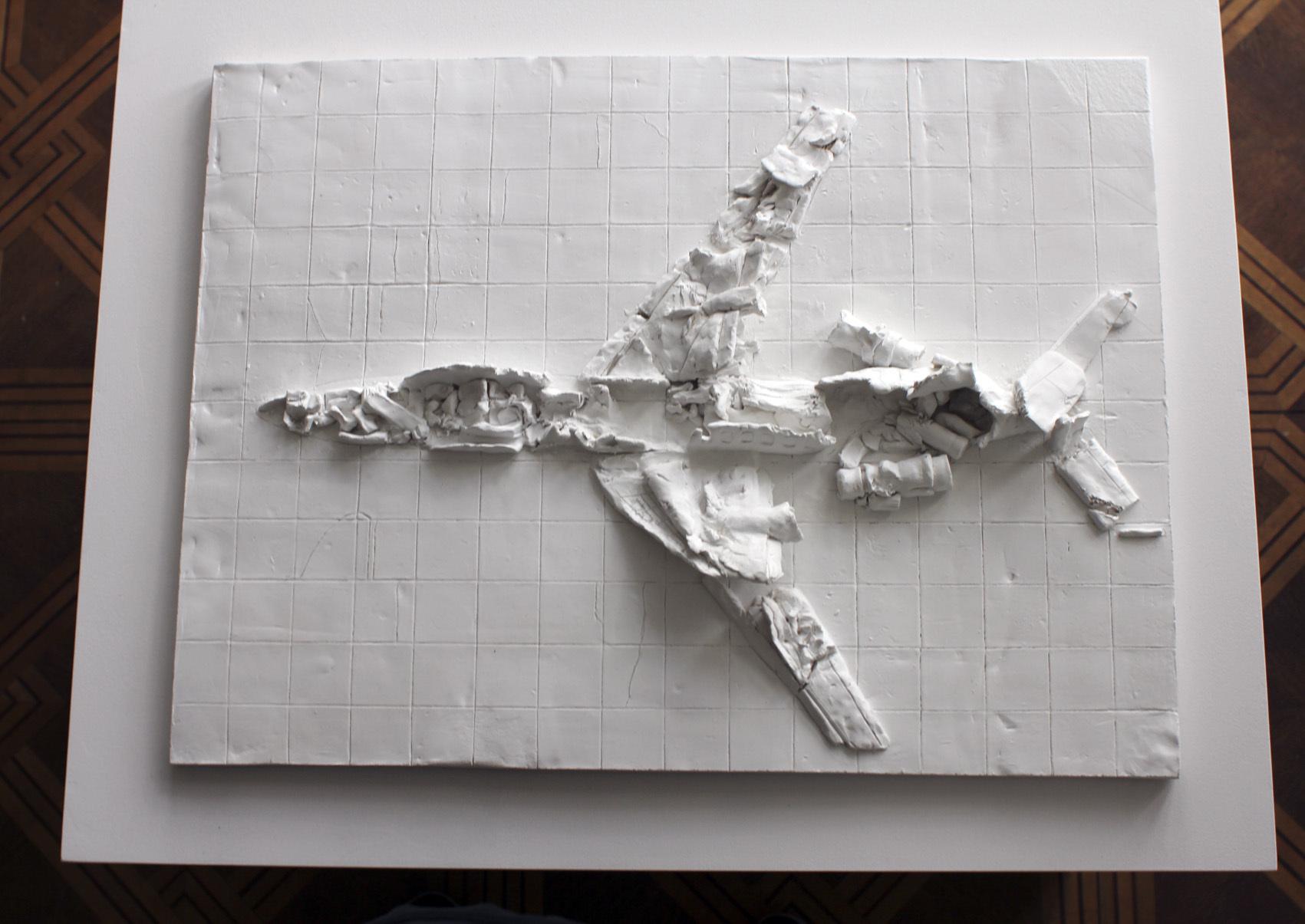 Christoph Draeger, Untitled (Smolensk), 2014 r., rzezba ceramiczna wglinie