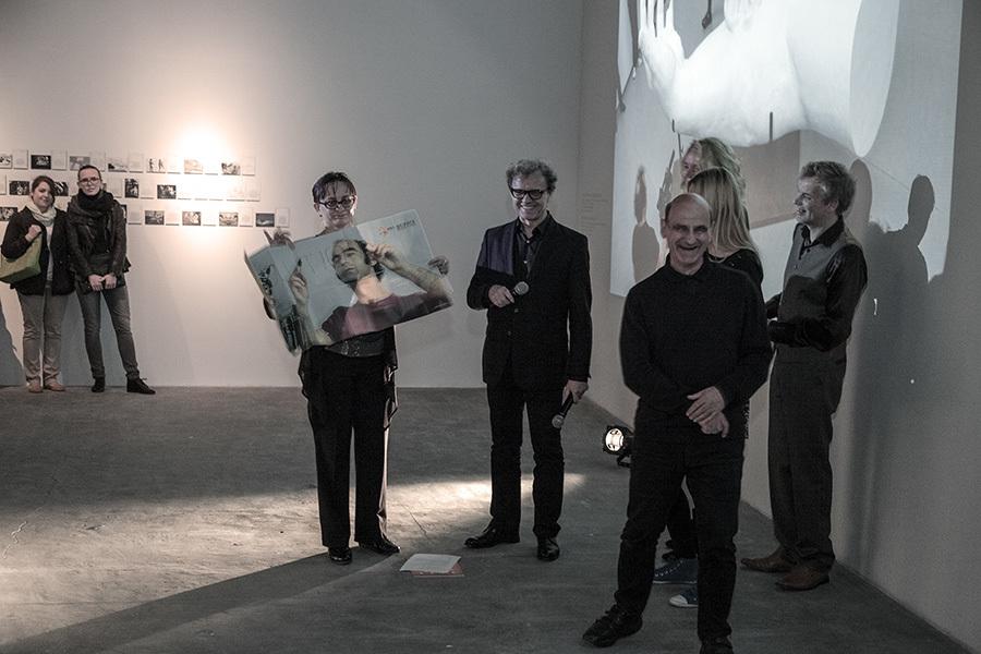 Na wernisażu wystawy Stelarca, CSW Łaźnia, 16.05.2014