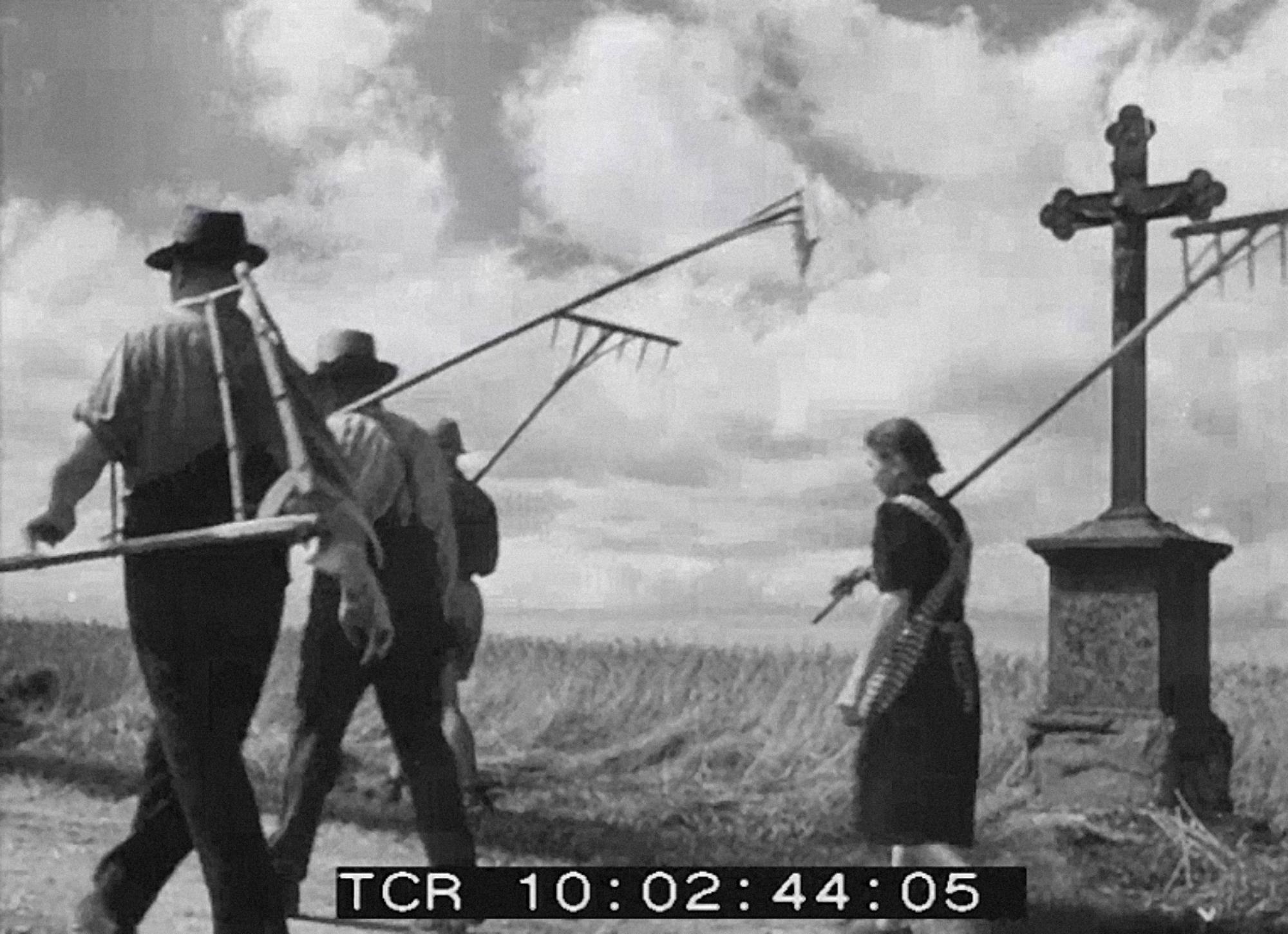"""Anton Kutter, """"Zehn Bauern unter einem Hut"""", 1949, fot.© HDF Landesfilmsammlung, Baden-Württemberg"""
