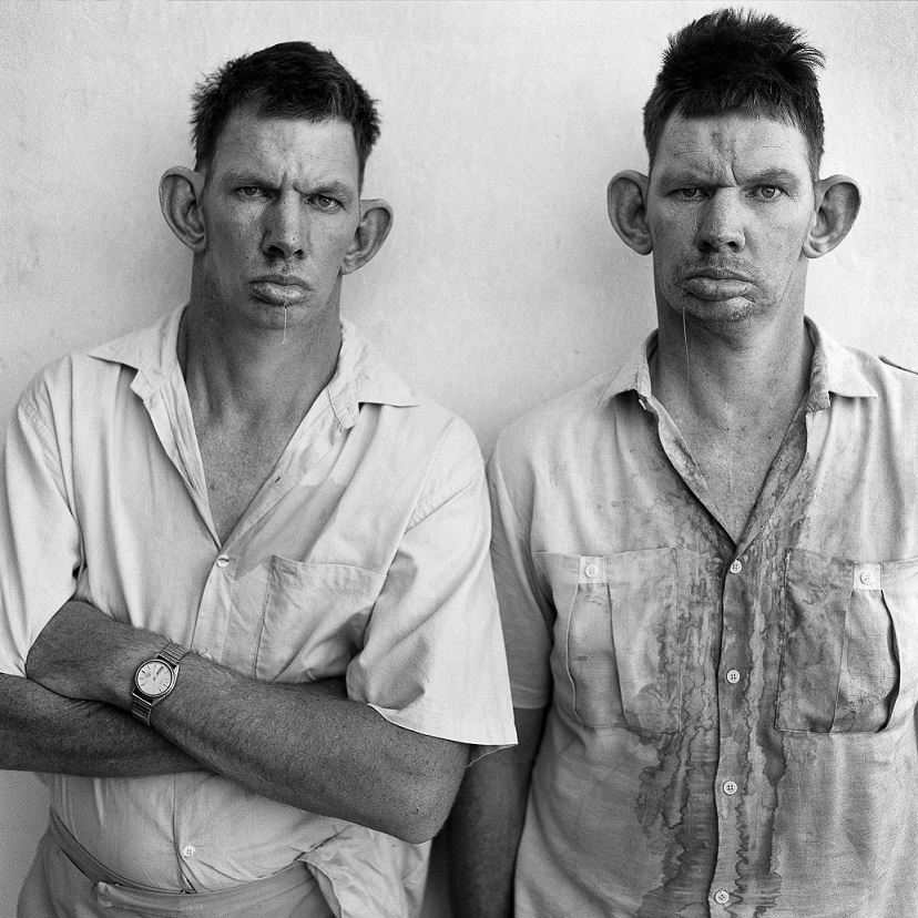 Roger Ballen, Dresie and Casie, twins, 1993