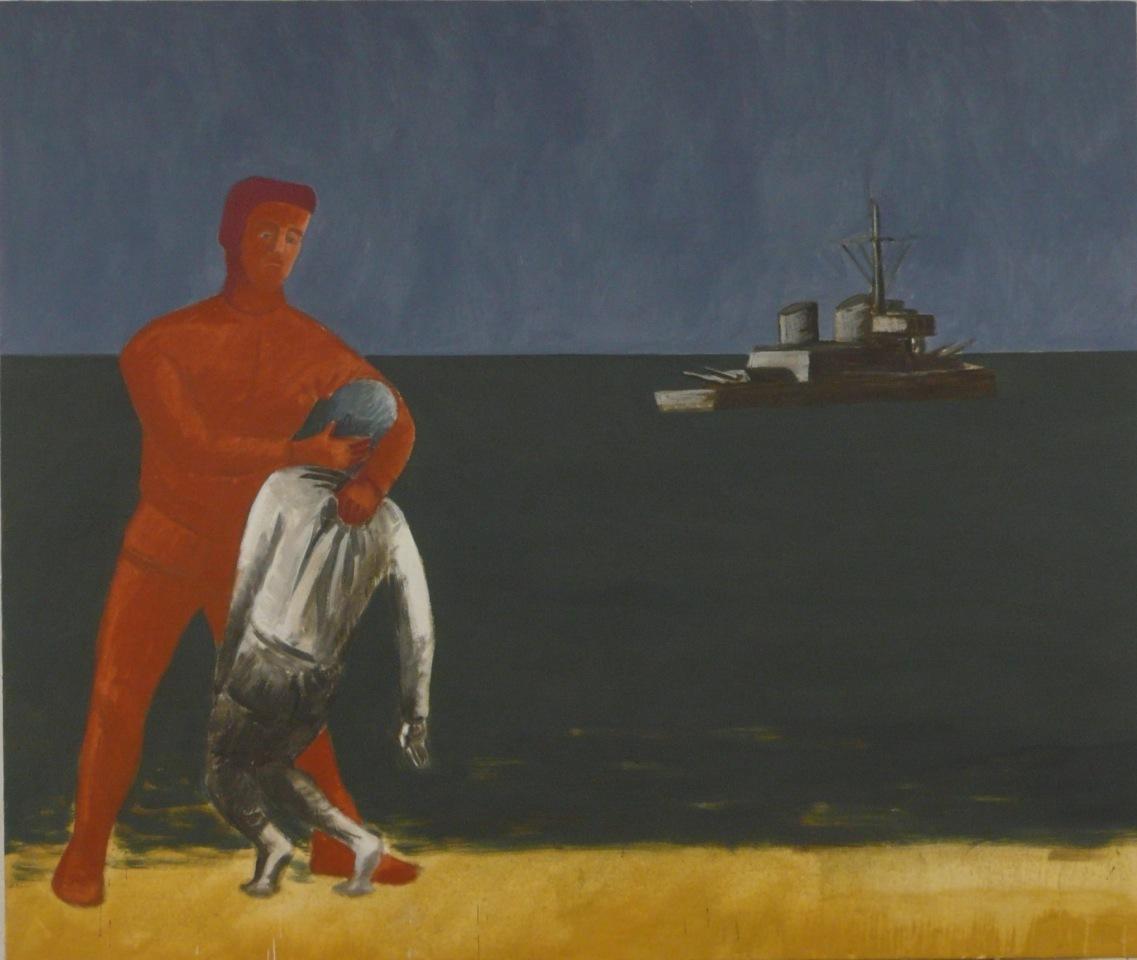 JAROSŁAW MODZELEWSKI Krymski motyw, tempera żółtkowa, płótno, 135 x 160 cm, 2014