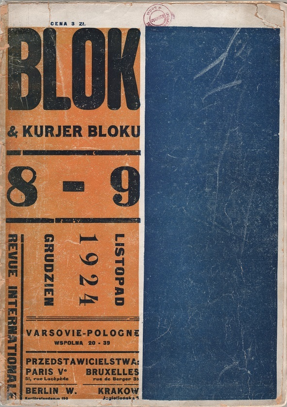 Blok iKurjer bloku. Review Internationale. nr8-9, 1924, red., ed. M. Szczuka,