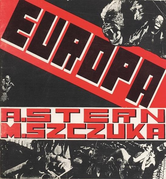 Projekt okładki książki Anatola Sterna wukładzie graficznym Mieczysława Szczuki â  Europaâ  , 1929
