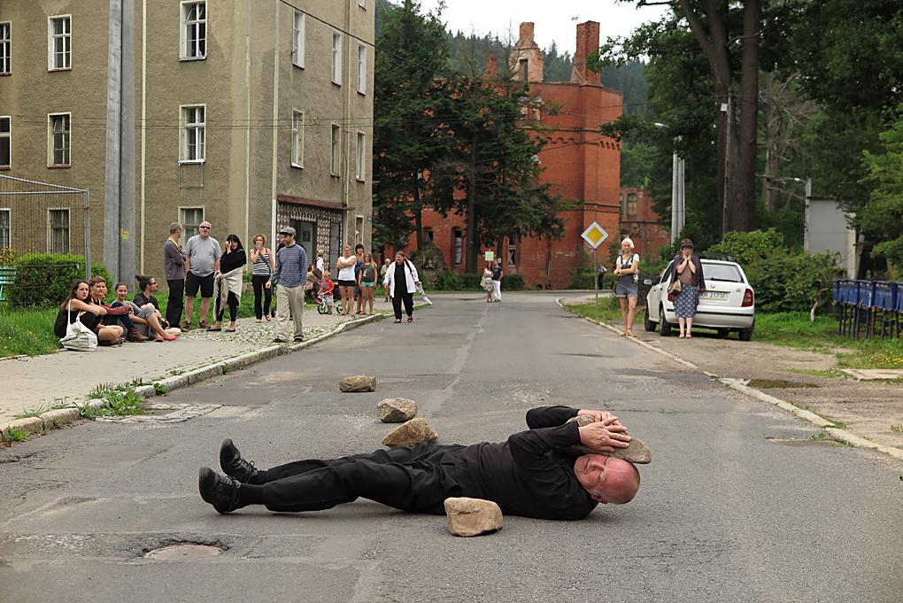 Boris Nieslony, performance, fot.Marcin Polak & Jerzy Grzegorski