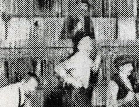 """4.Łukasz Trzciński, """"ksero nr."""", fragment, technika: znaleziona odbitka kserograficzna, skan cyfrowy"""